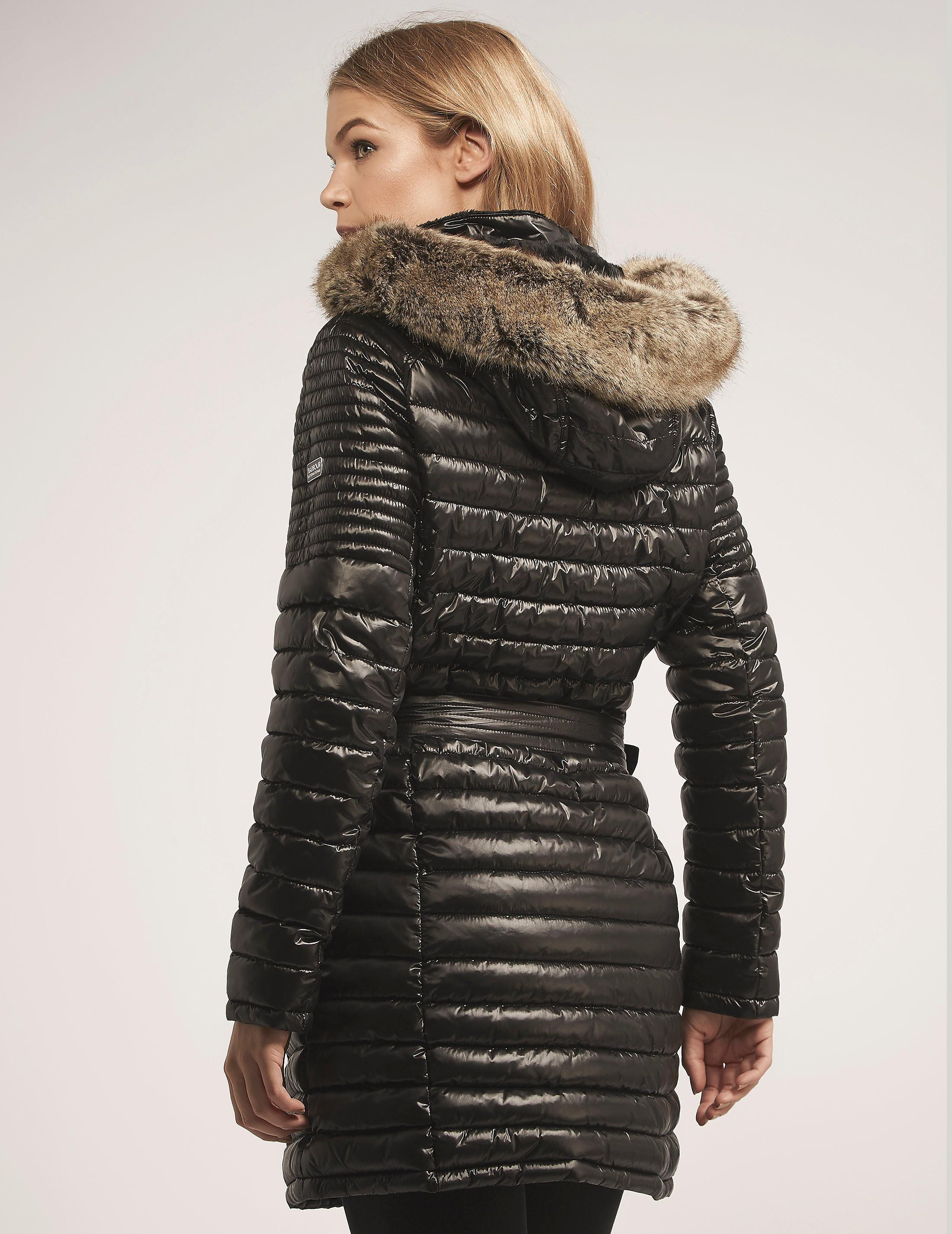 Barbour Endo Baffle Long Fur Hooded Coat