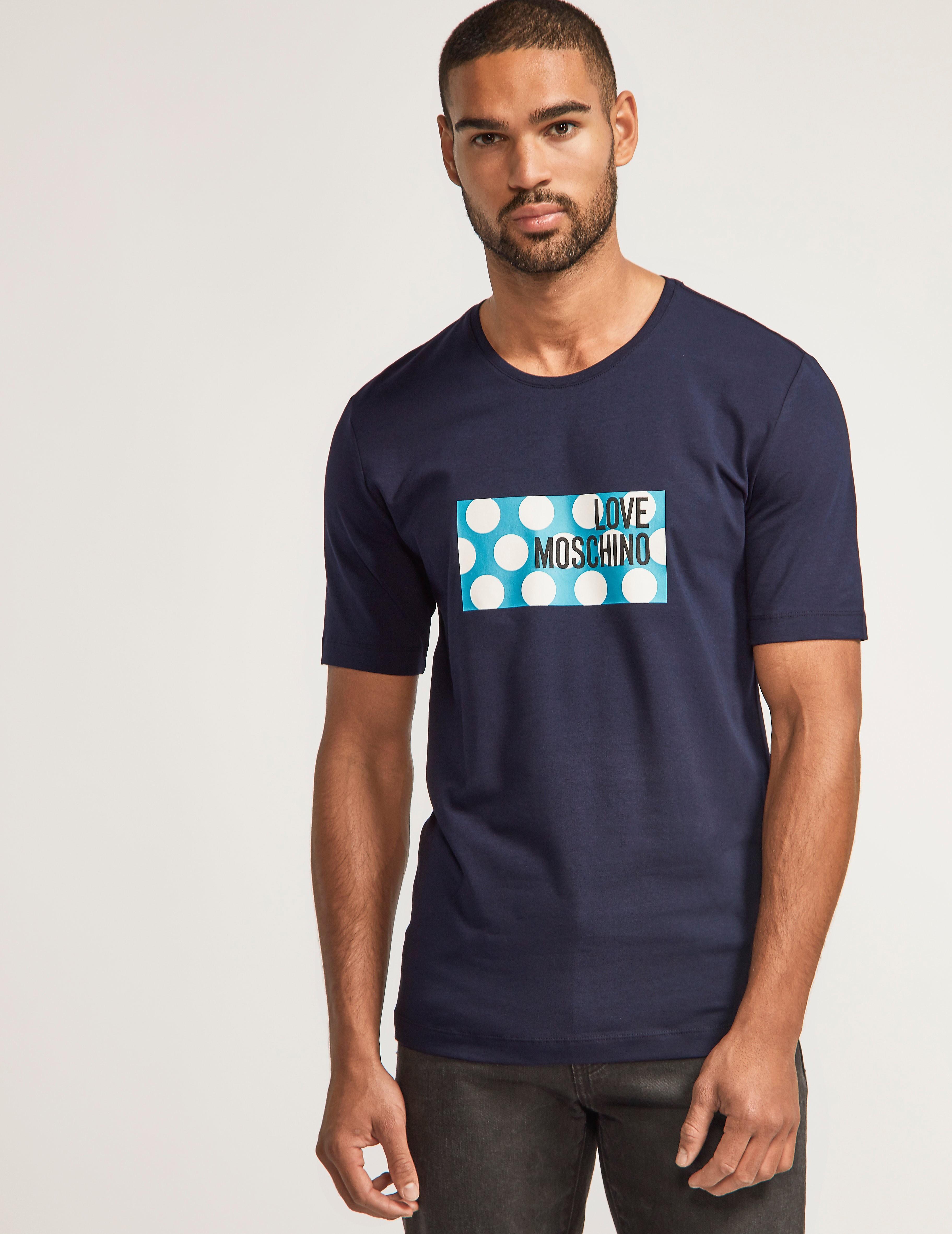 Love Moschino Polka Box Logo T-Shirt