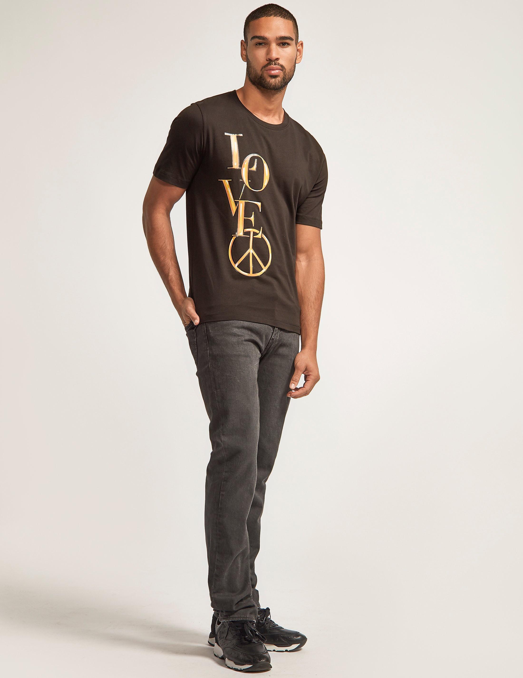 Love Moschino Love Gold Logo T-Shirt