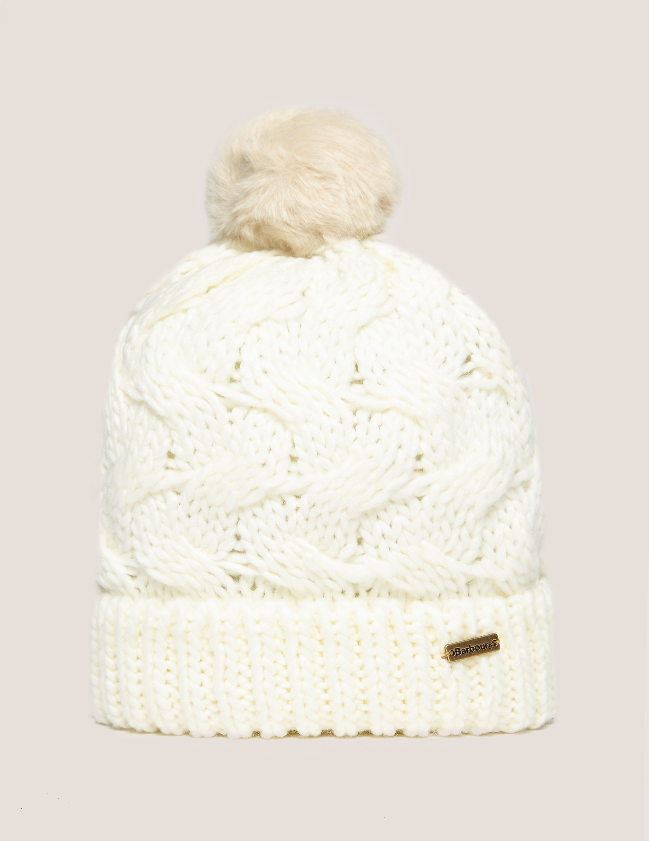 Barbour Fur Pom Hat