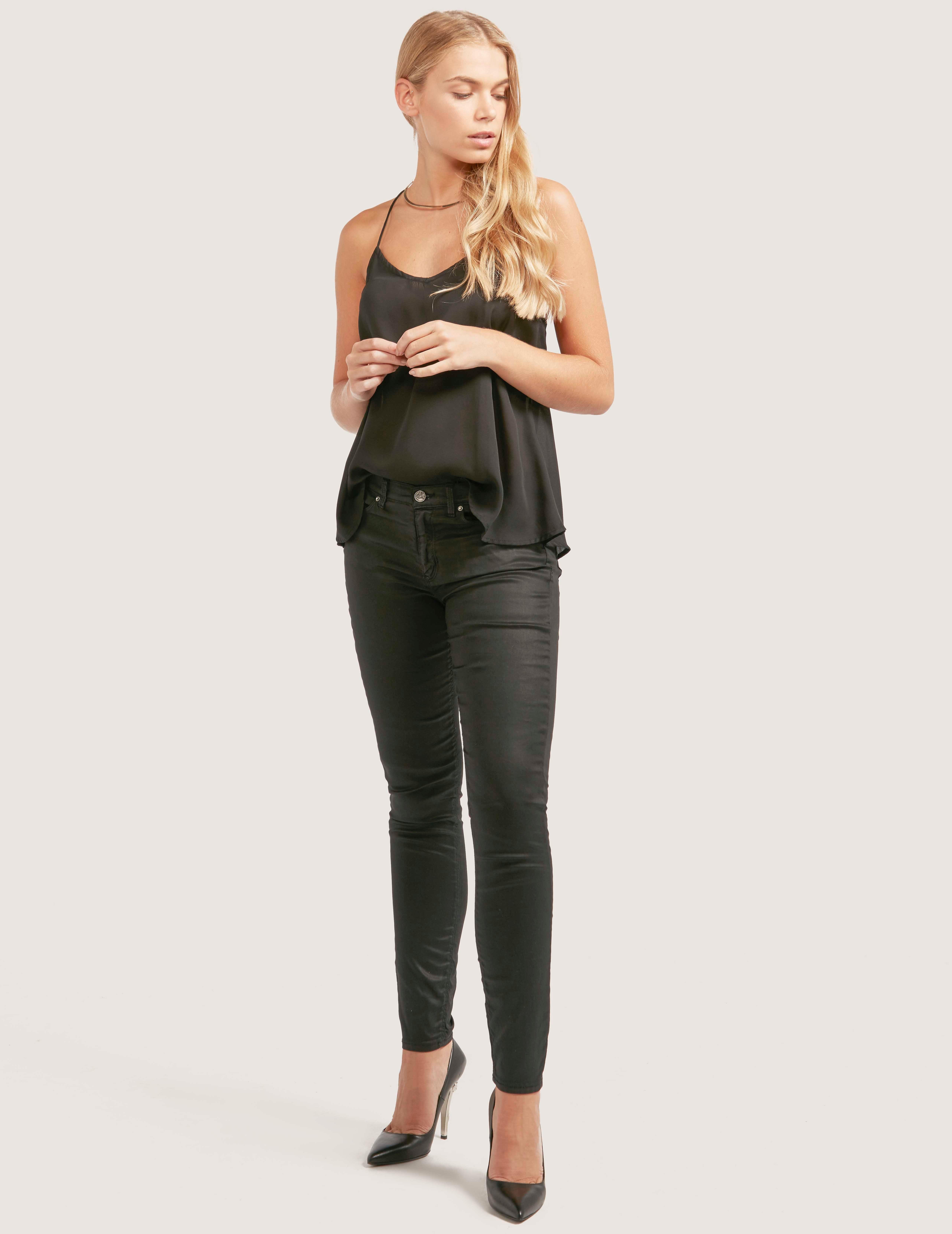 BOSS J10 Coated Skinny Jeans