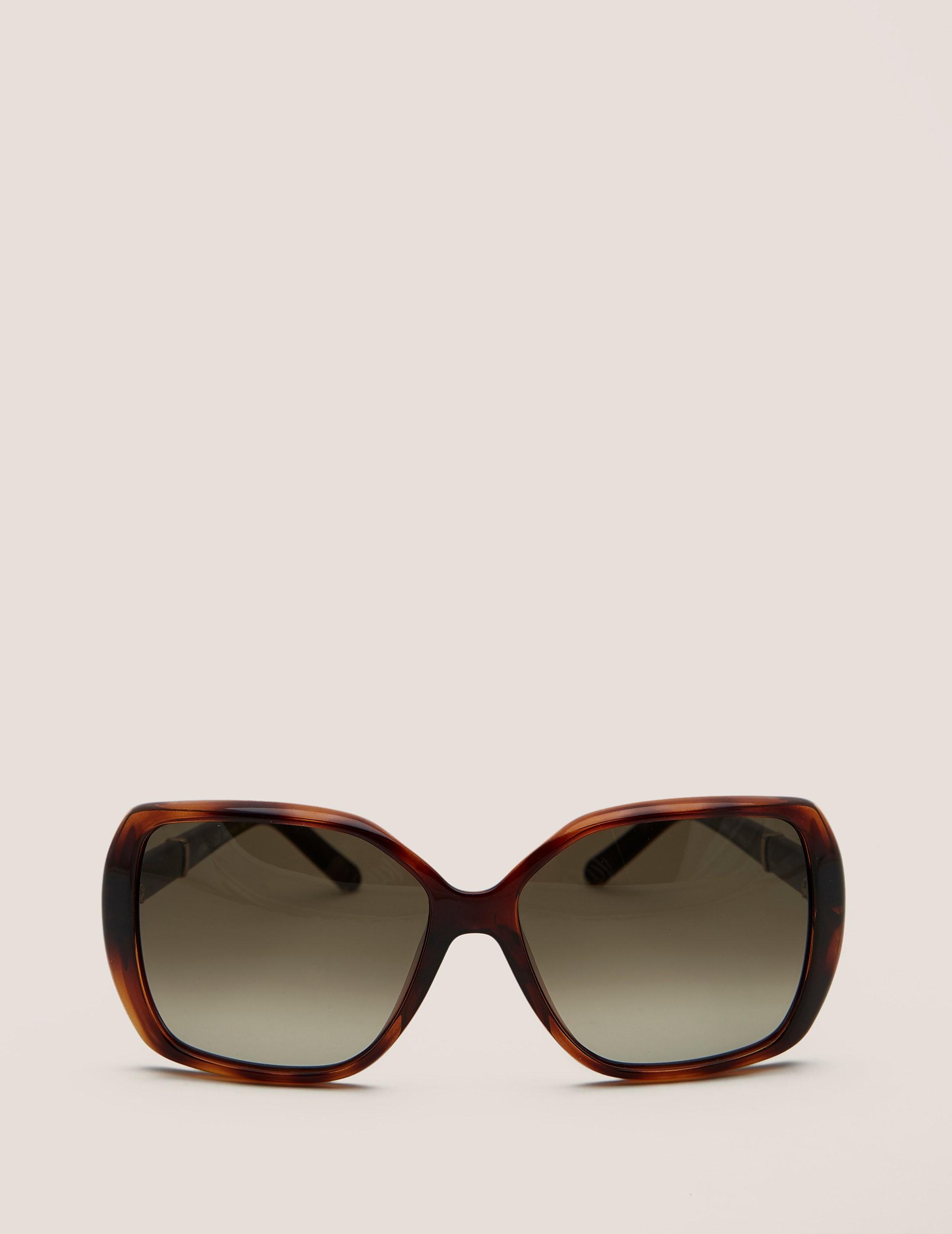 Chloe Tortoiseshell Rectangular Sunglasses