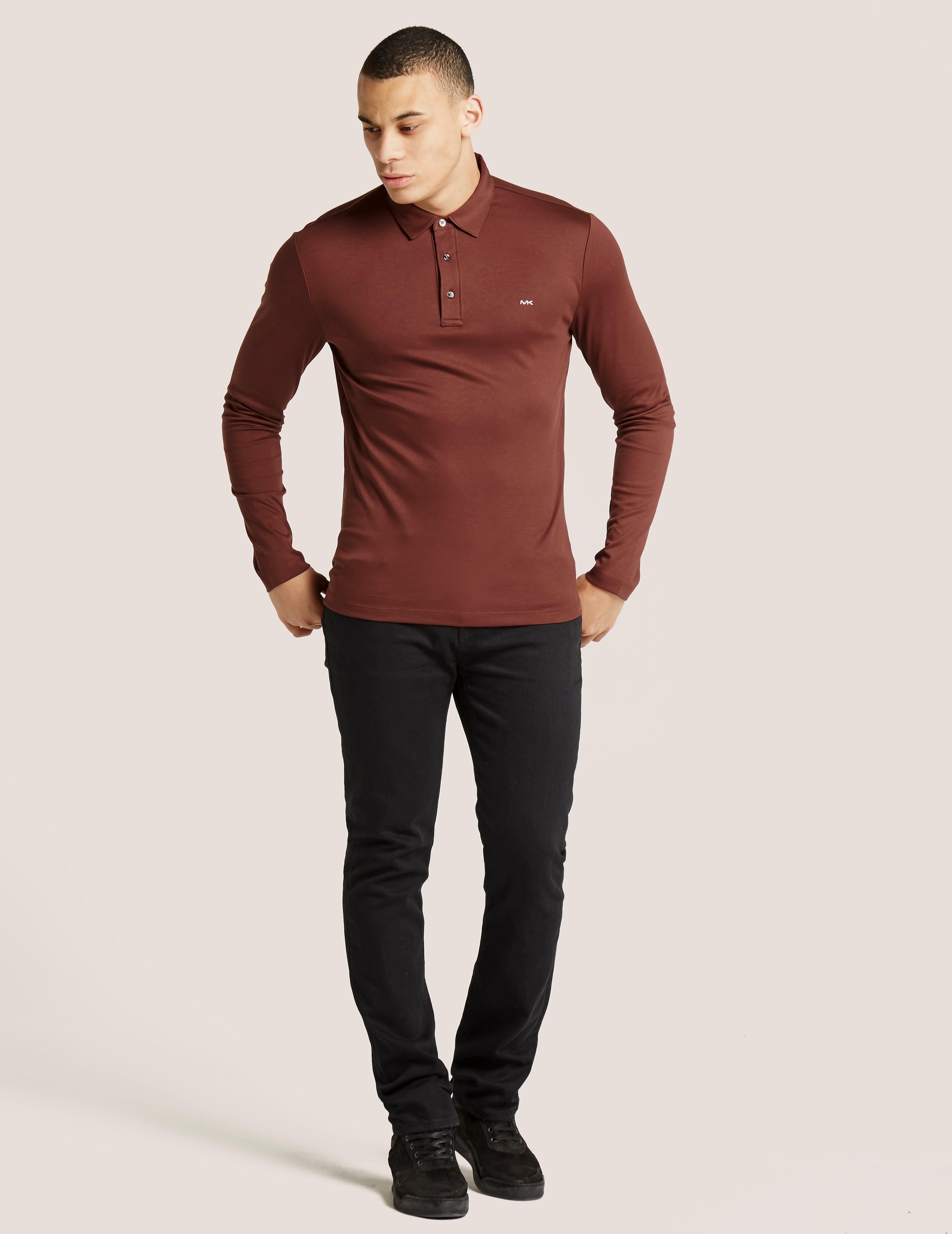 Michael Kors Long Sleeve Sleek Polo Shirt