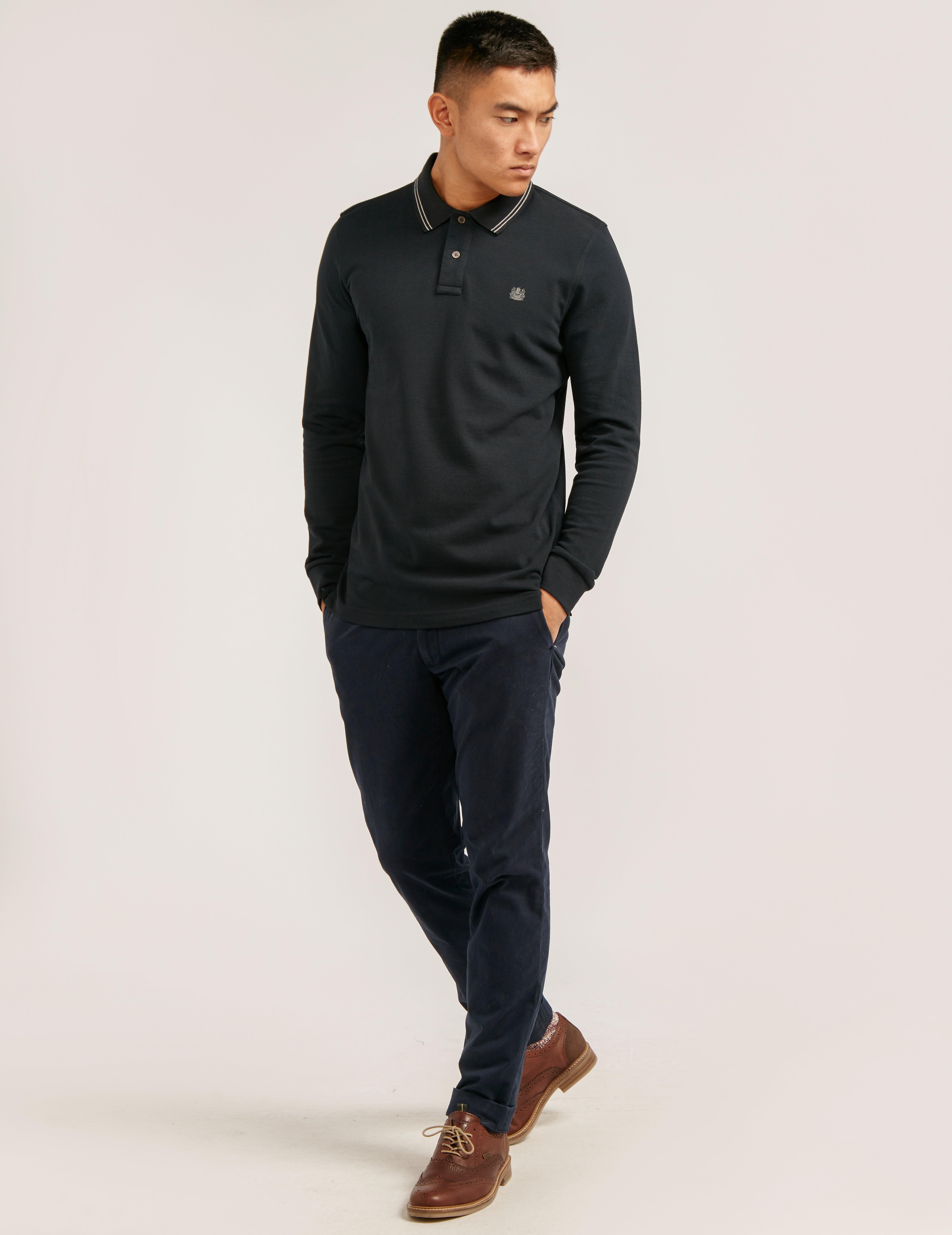 Aquascutum Preston Long-Sleeve Polo Shirt