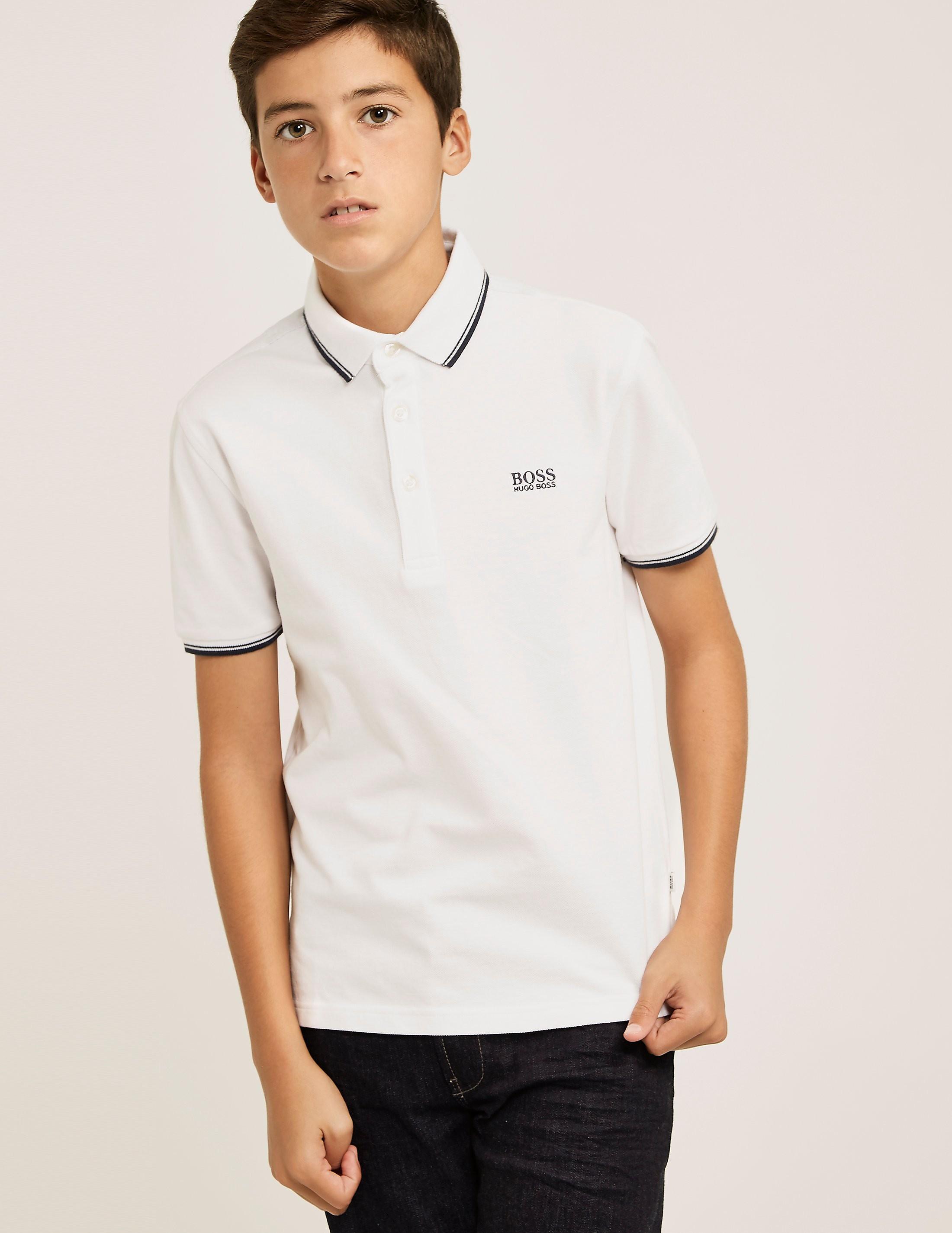 BOSS Tipped Collar Polo Shirt