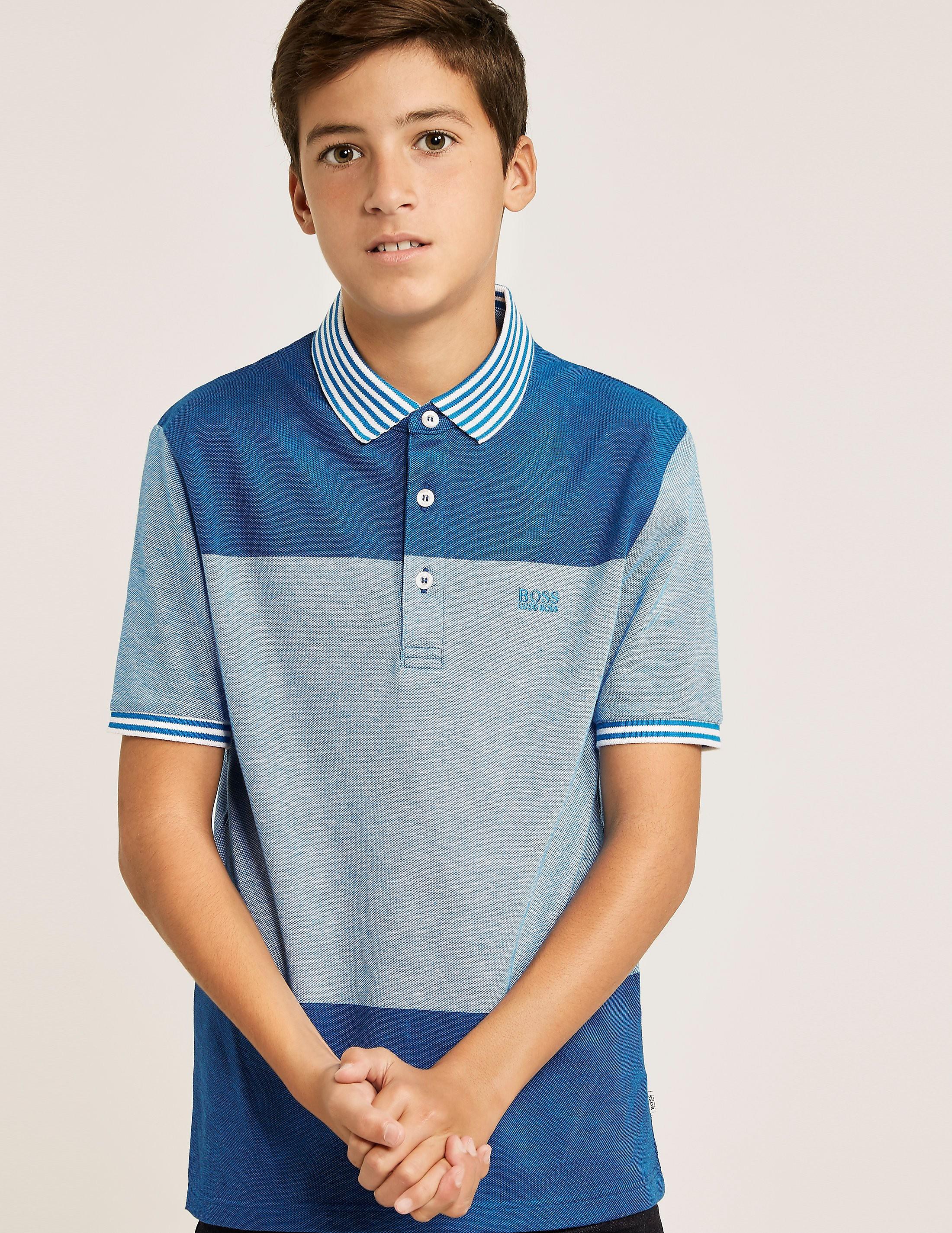 BOSS Striped Collar Polo Shirt