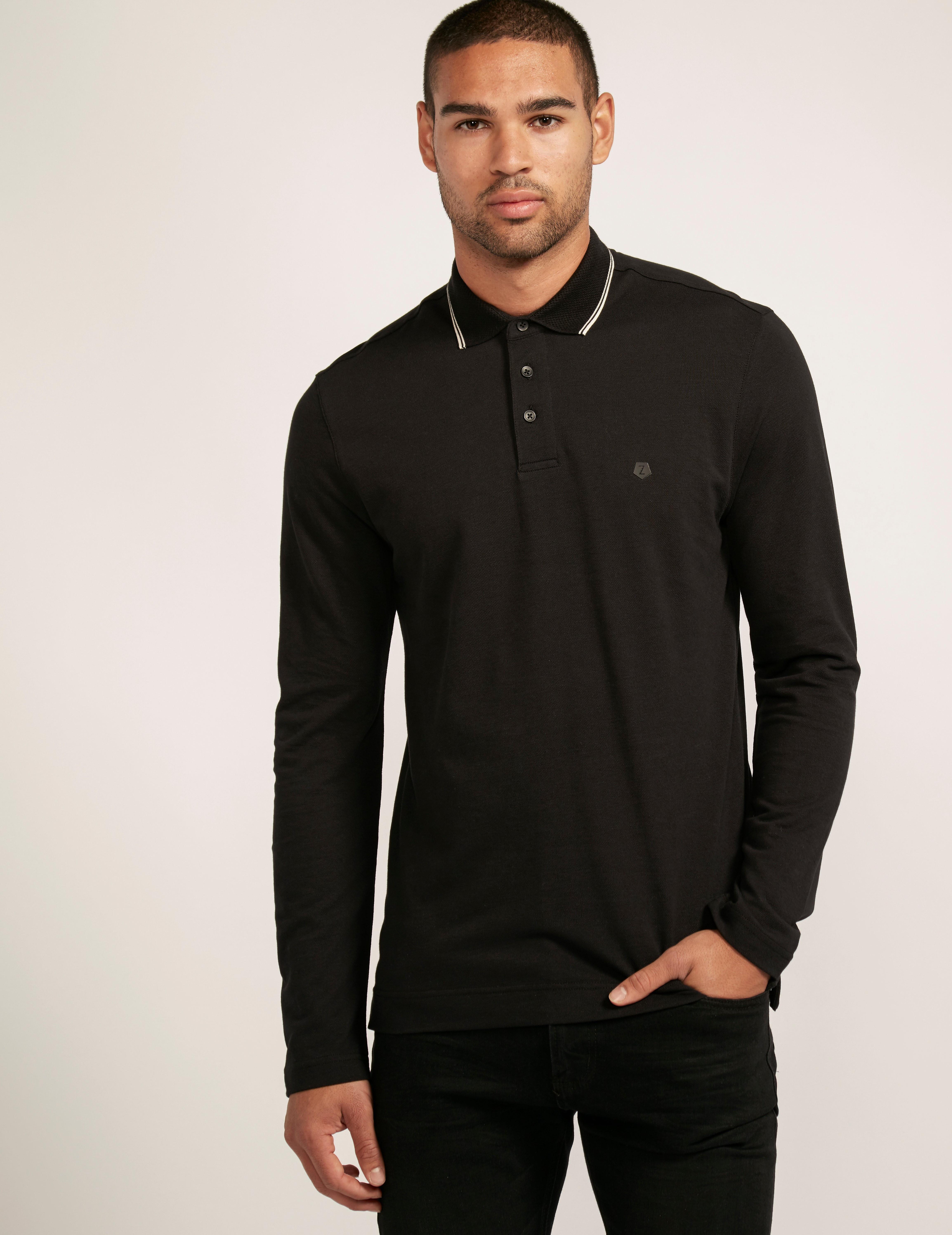 Z Zegna Lon Sleeve Polo Shirt