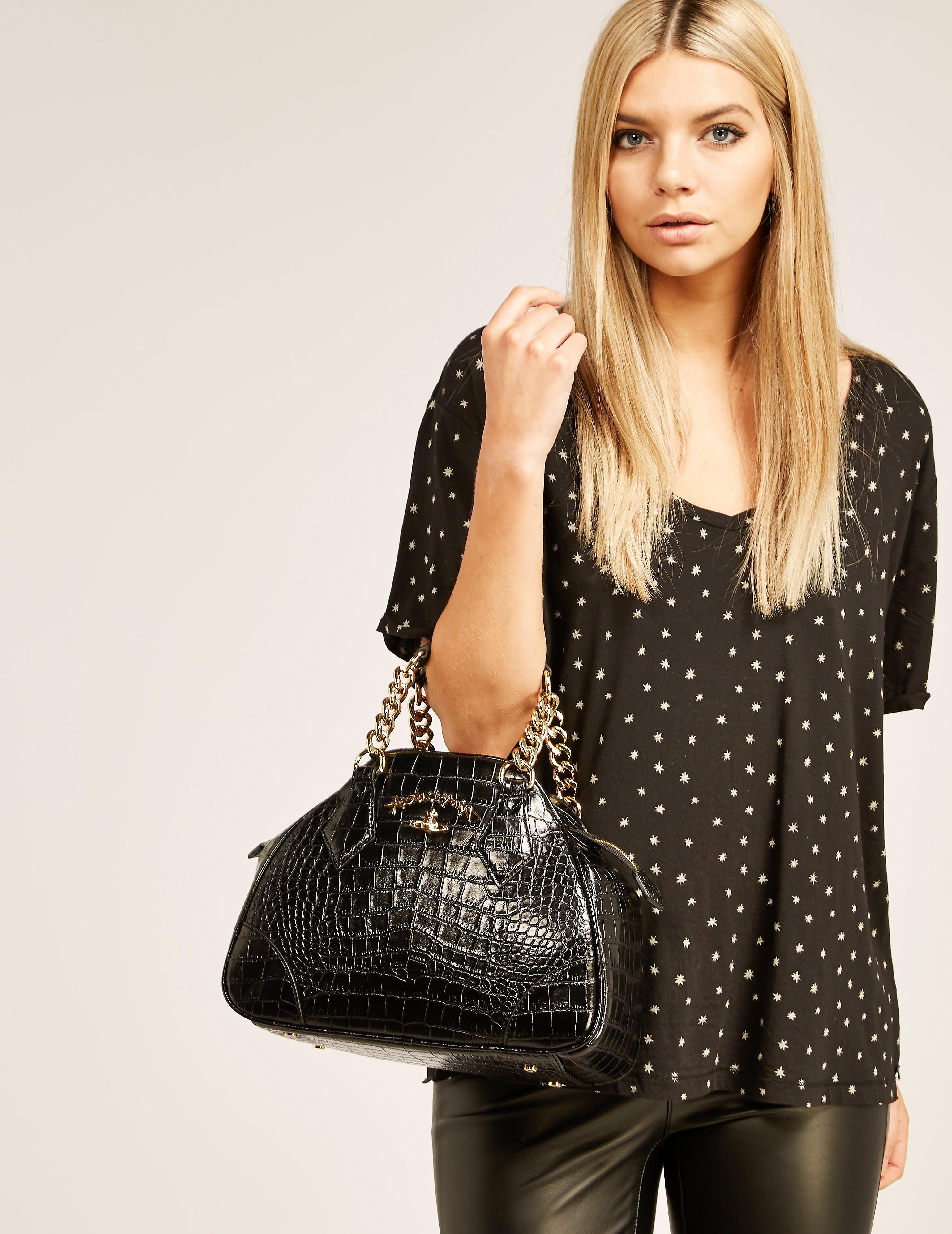 Vivienne Westwood Dorset Crocodile Skin Handbag
