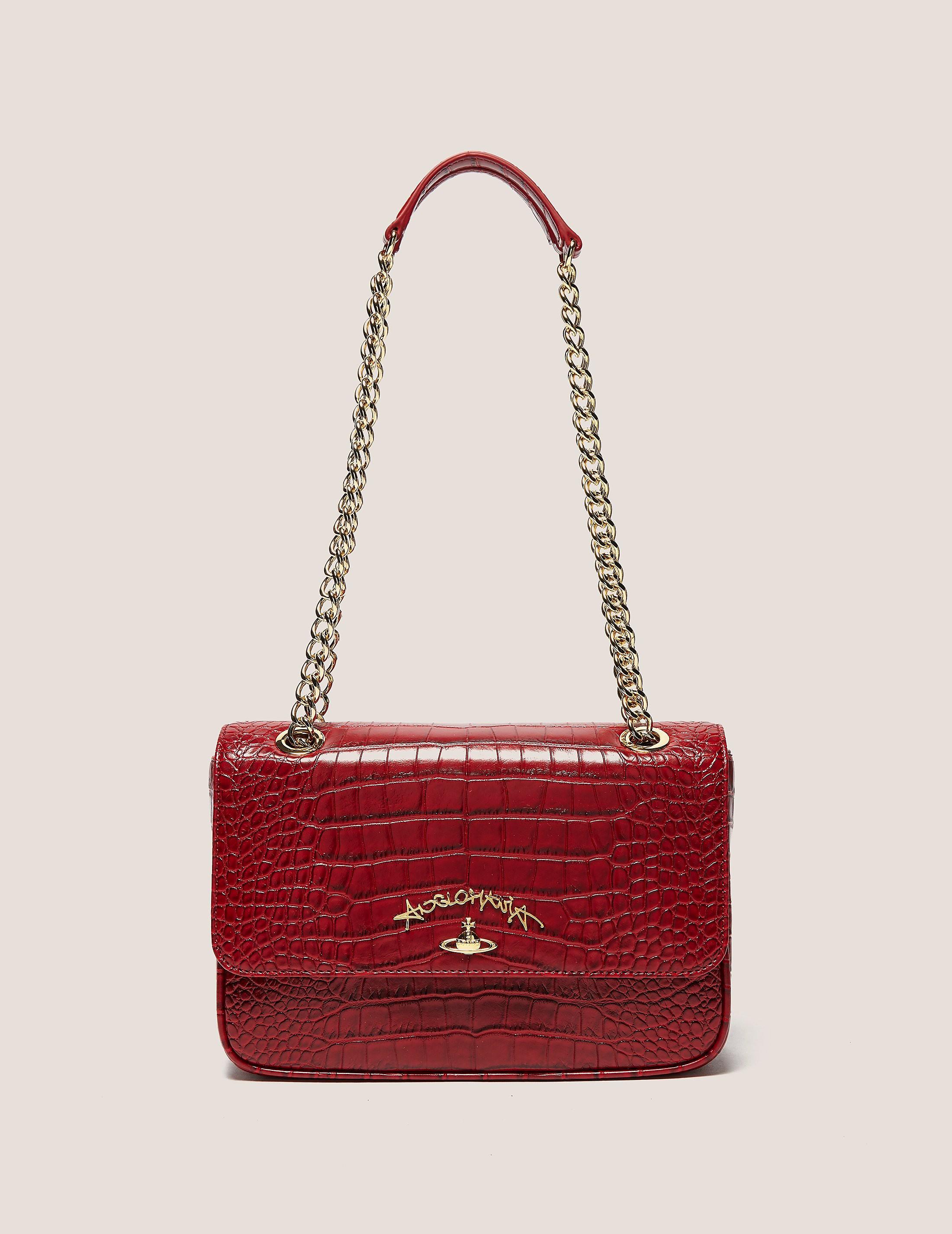 Vivienne Westwood Dorset Crocodile Skin Chain Bag