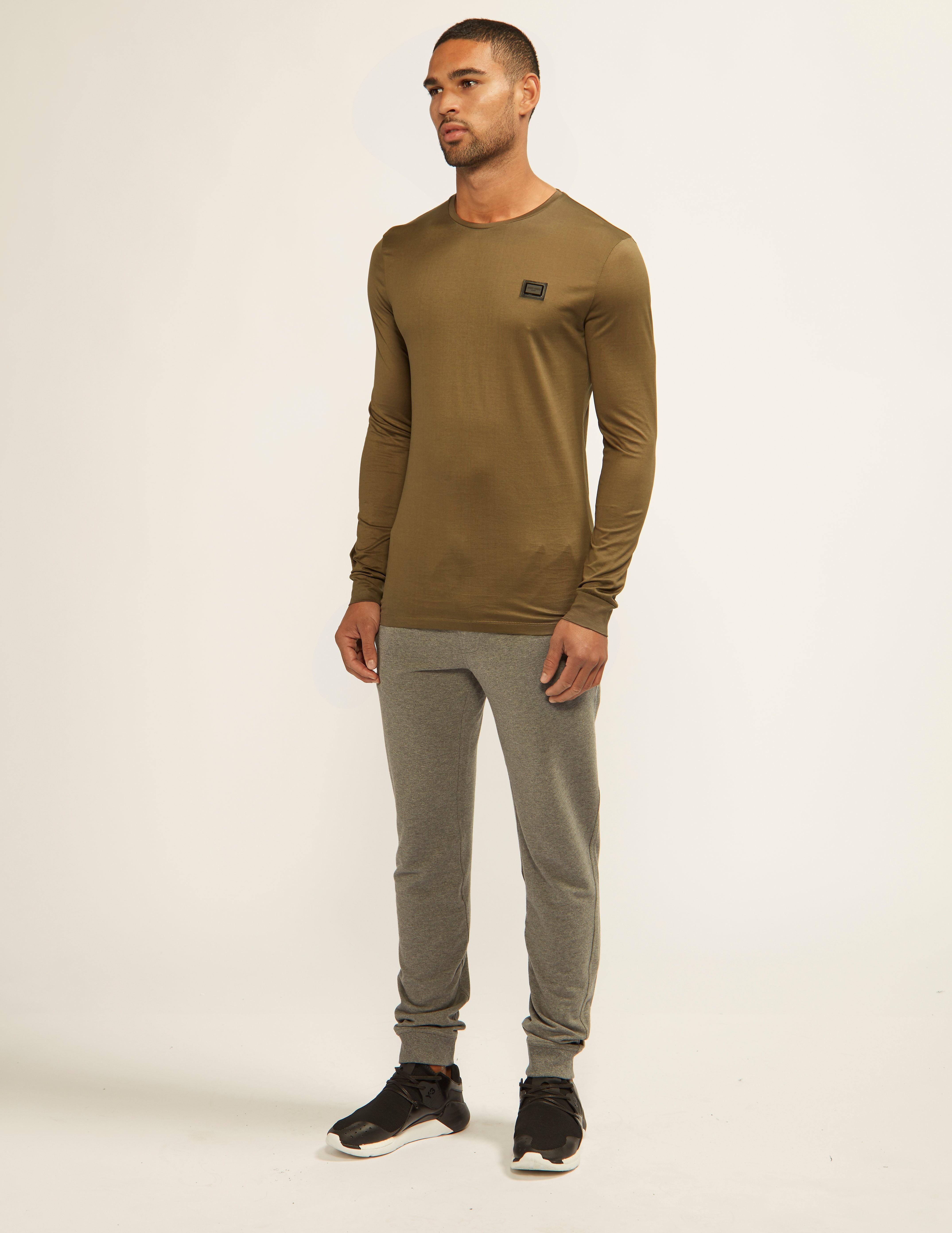 Antony Morato Black Plaque Long Sleeve T-Shirt