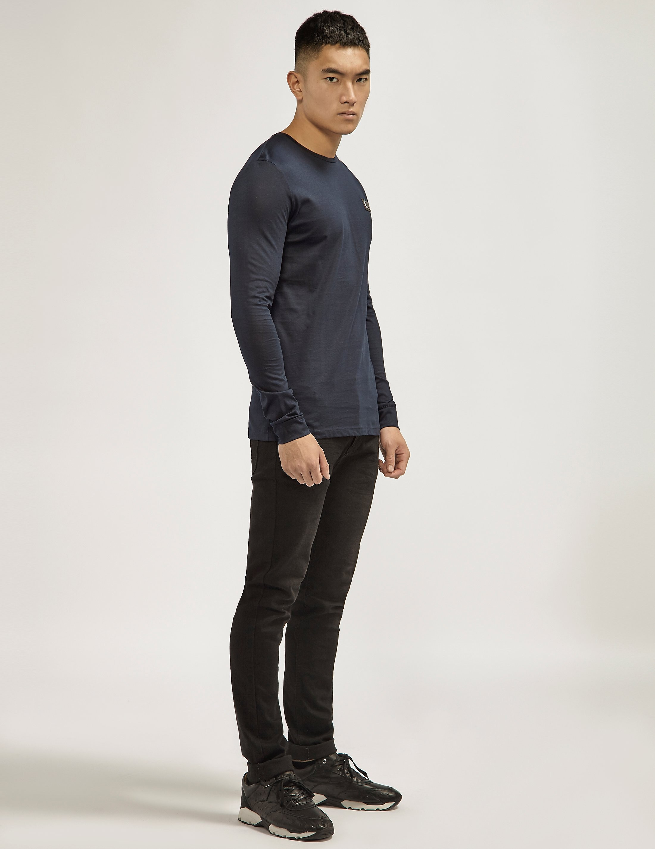 Antony Morato Black Plaque Long Sleeve T-Shirt