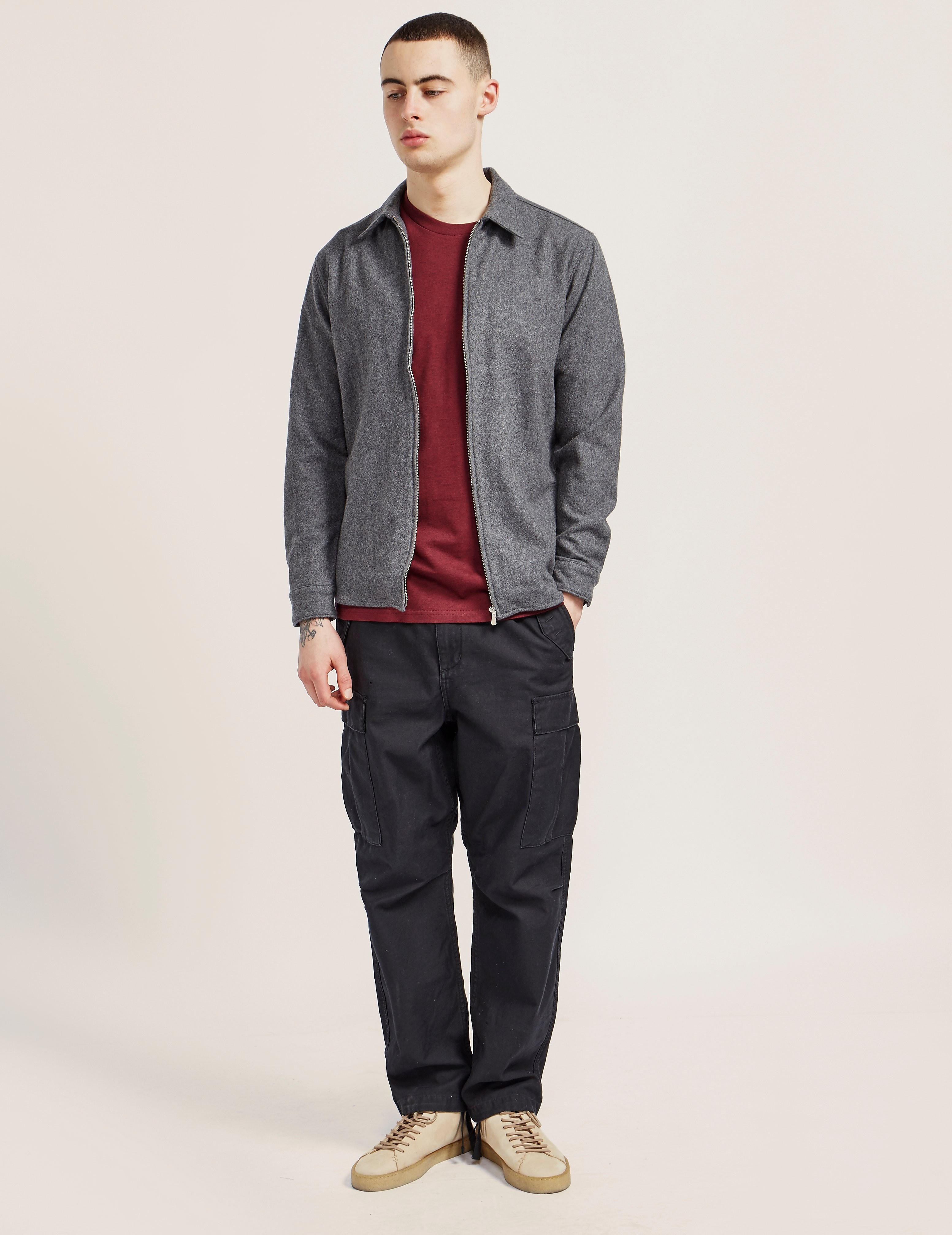 Edwin Wool Zipped Shirt