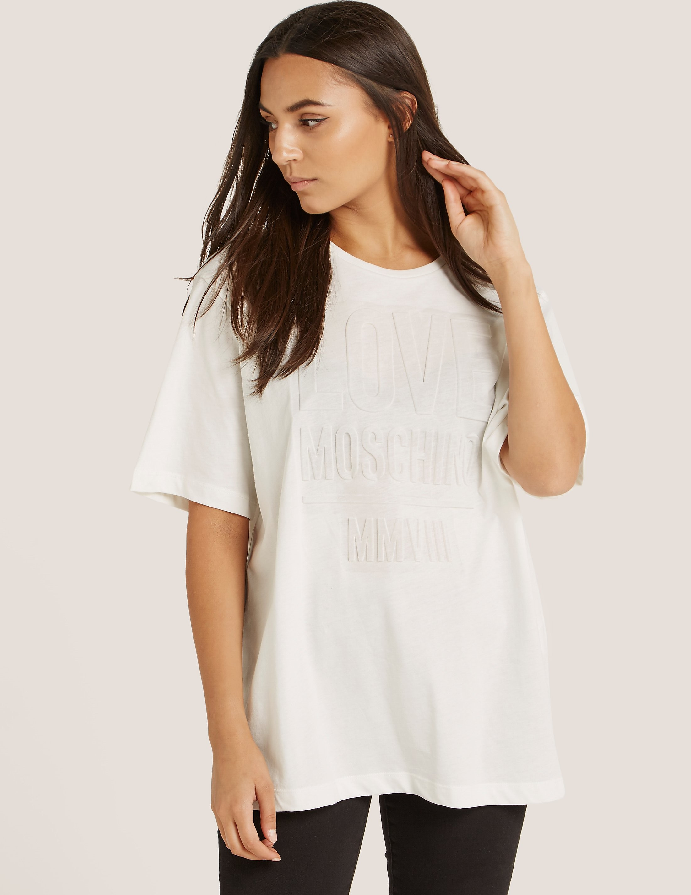 Love Moschino Love Embroidered T-Shirt