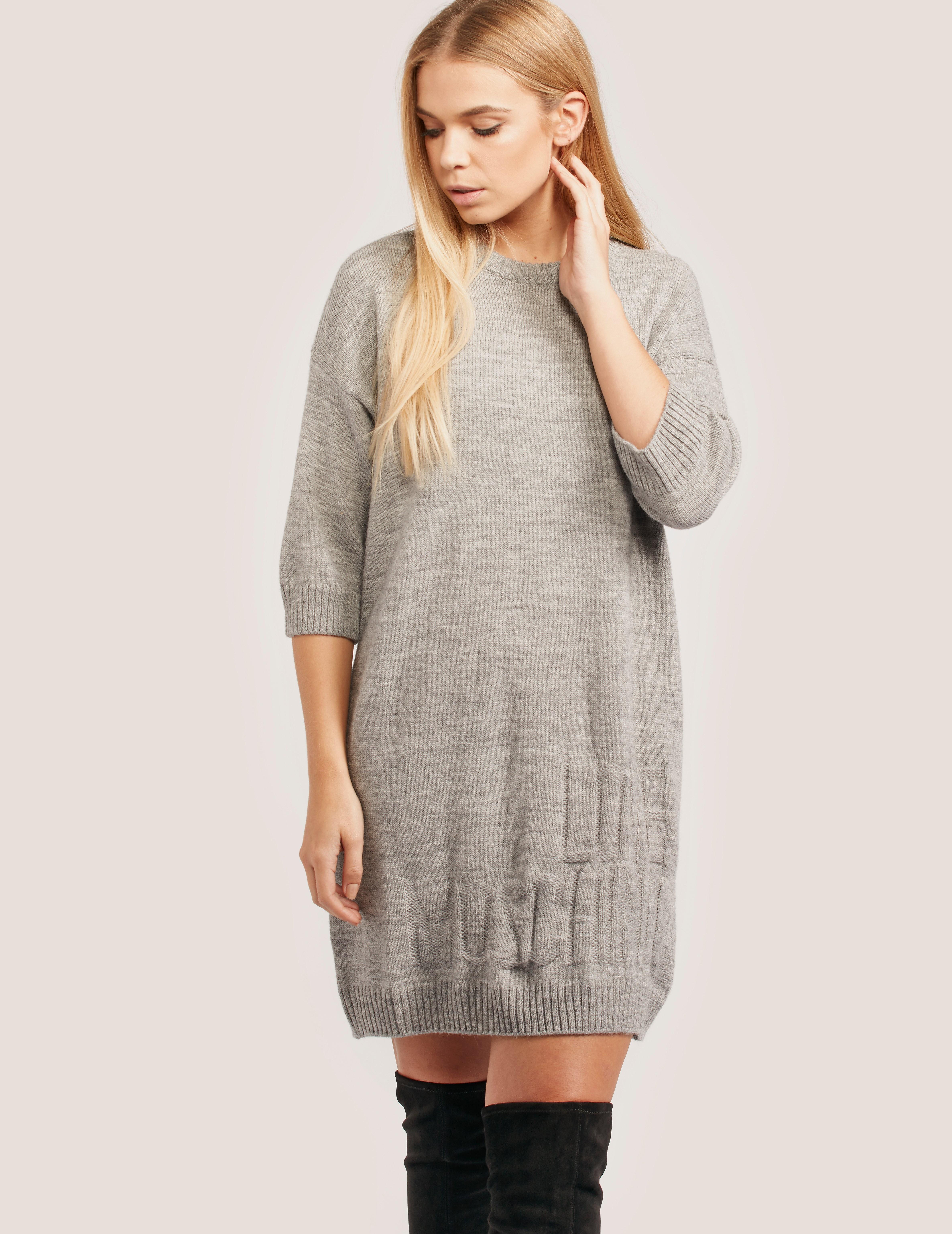 Love Moschino Grey Jumper Dress