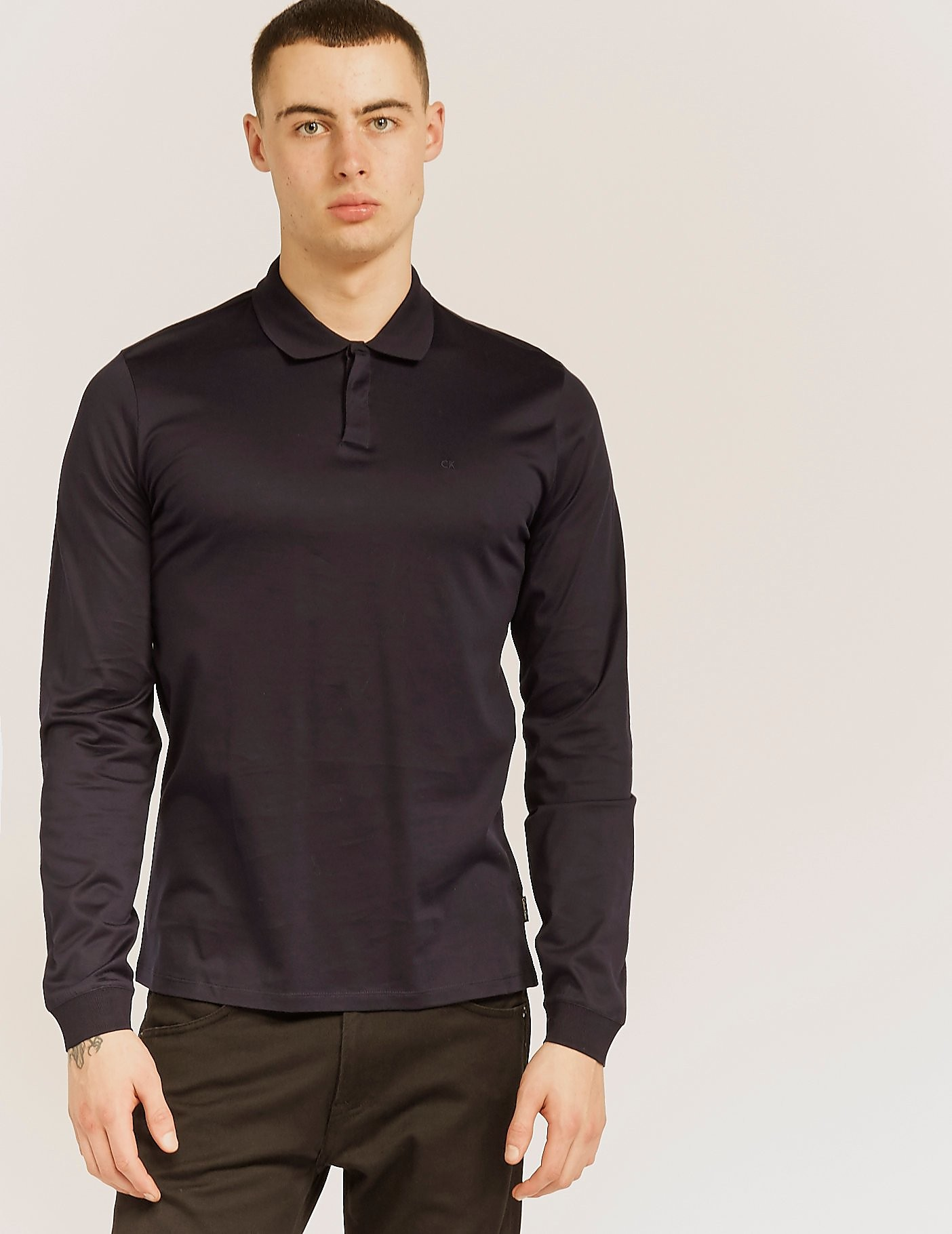 Calvin Klein Long Sleeve Polo Shirt