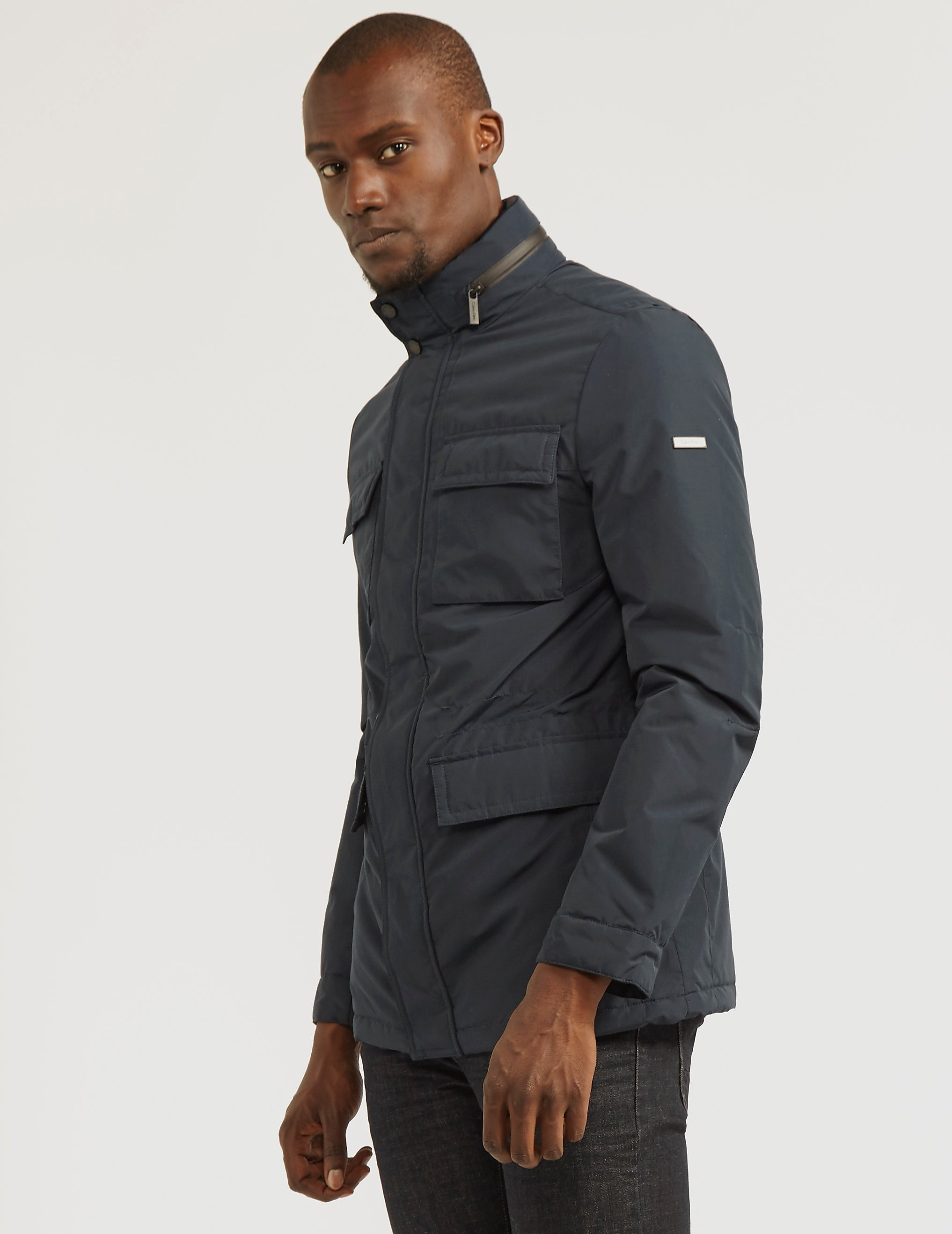 Calvin Klein Four-Pocket Fleeced Jacket