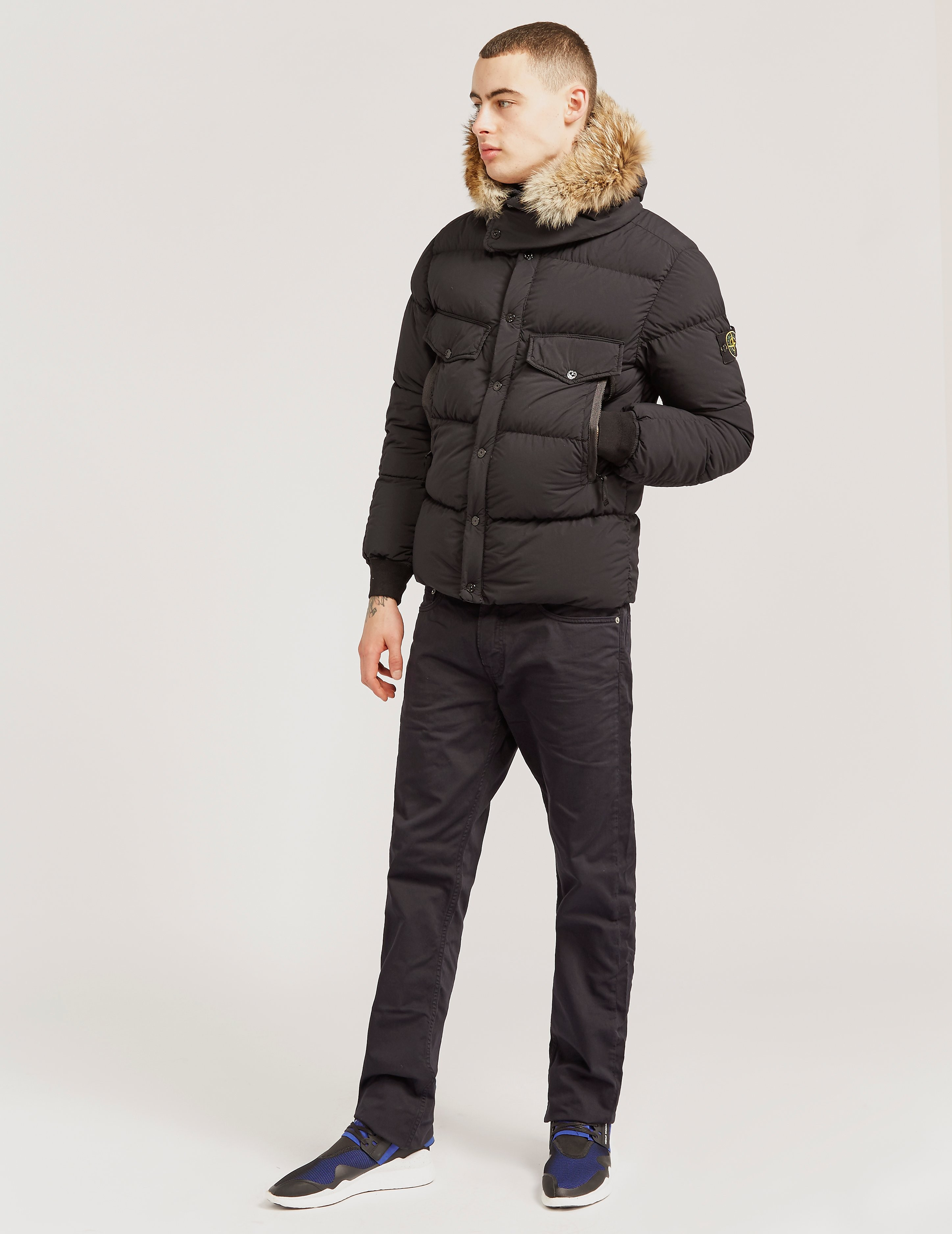 Stone Island Wax Fur Parka Jacket