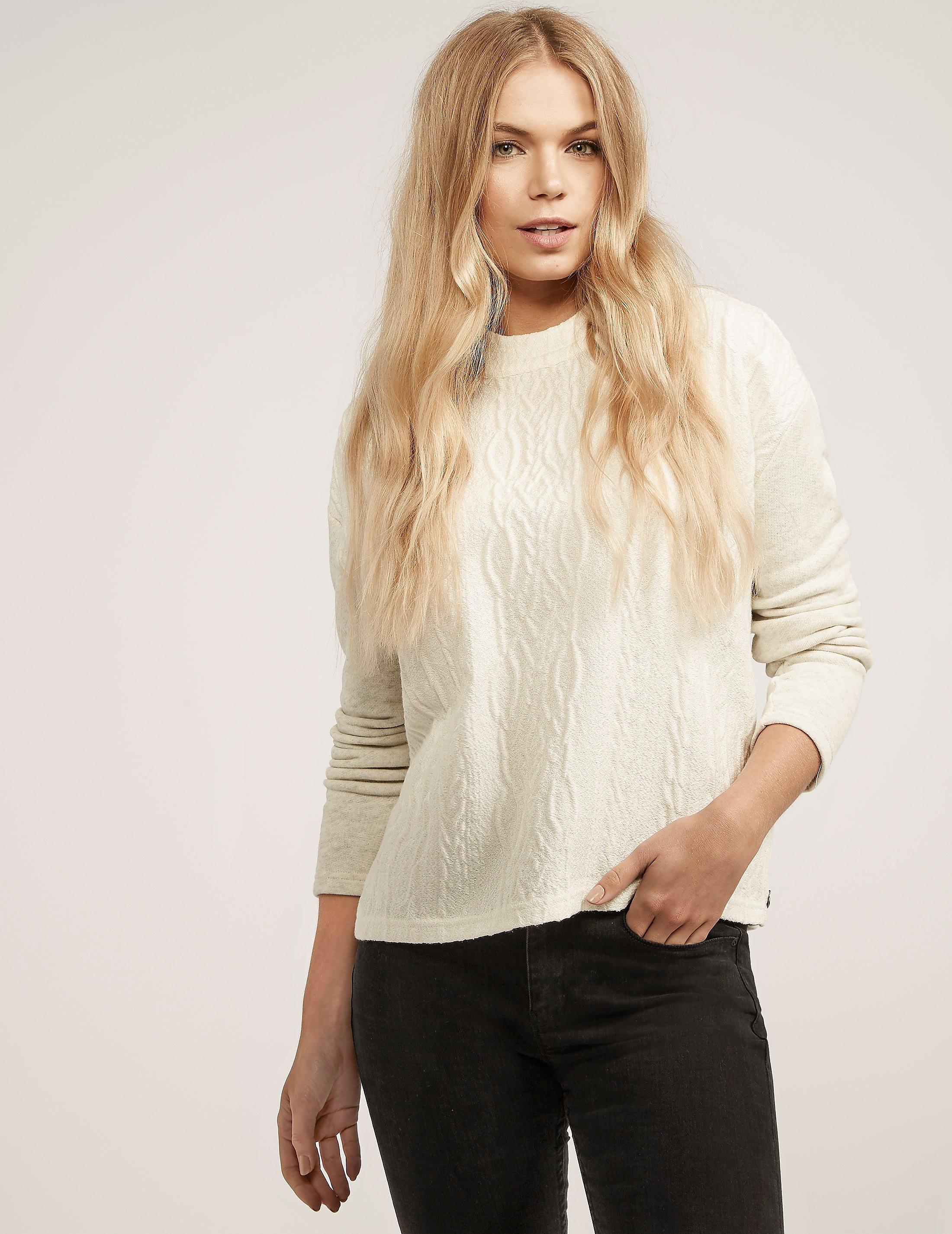 Maison Scotch Cable Front Sweatshirt