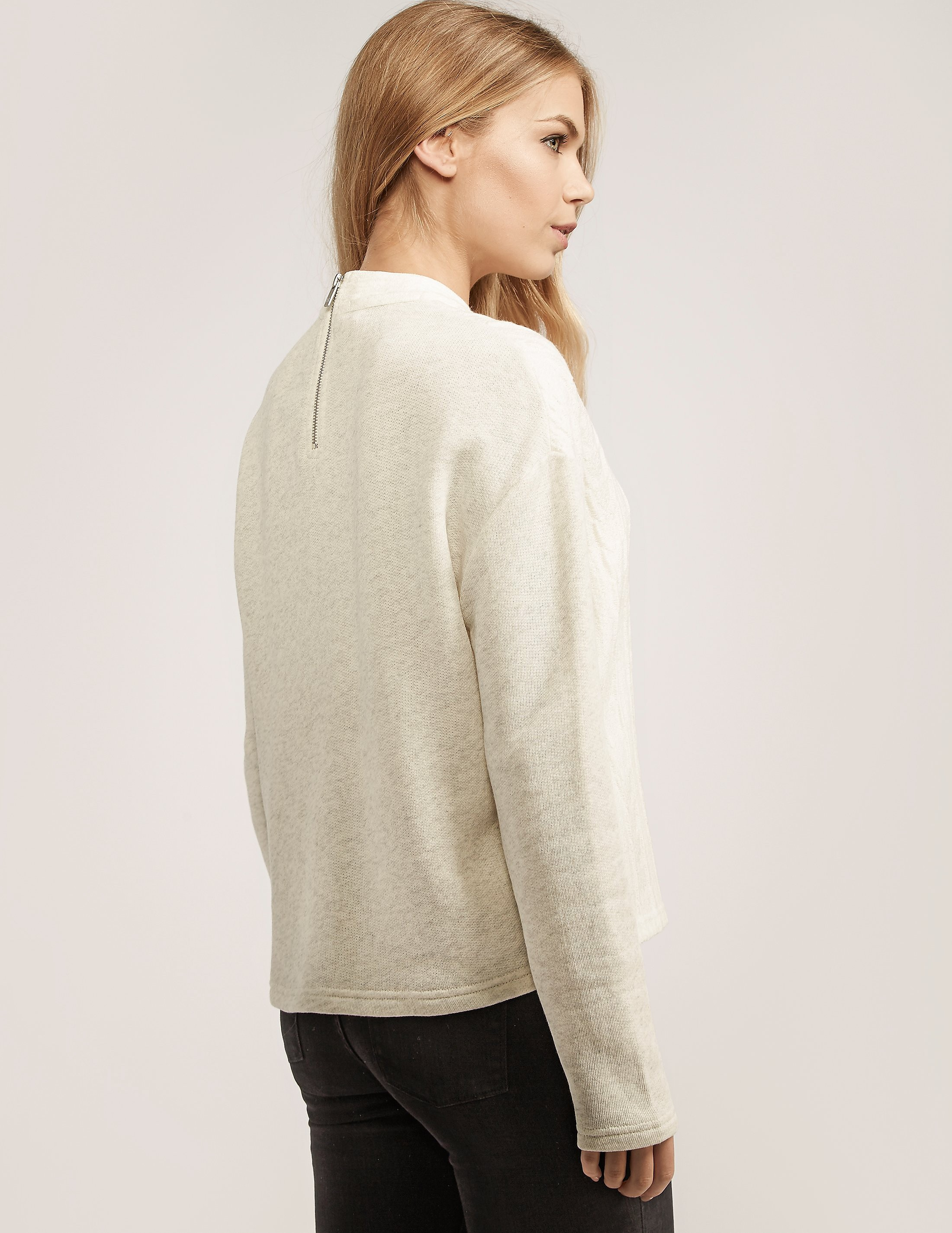 Maison Scotch Cable Front Sweatshirt