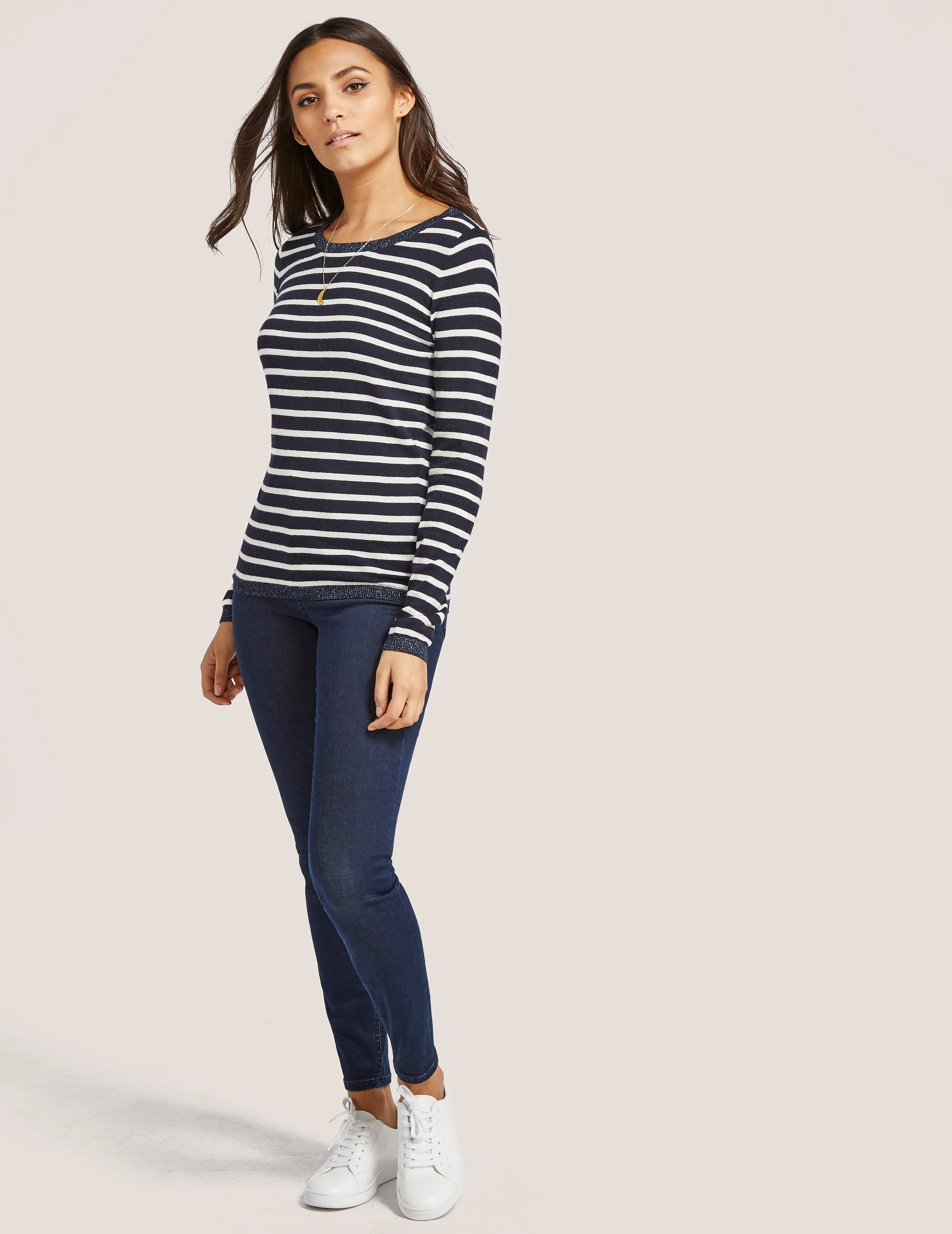 Maison Scotch Stripe Sweatshirt