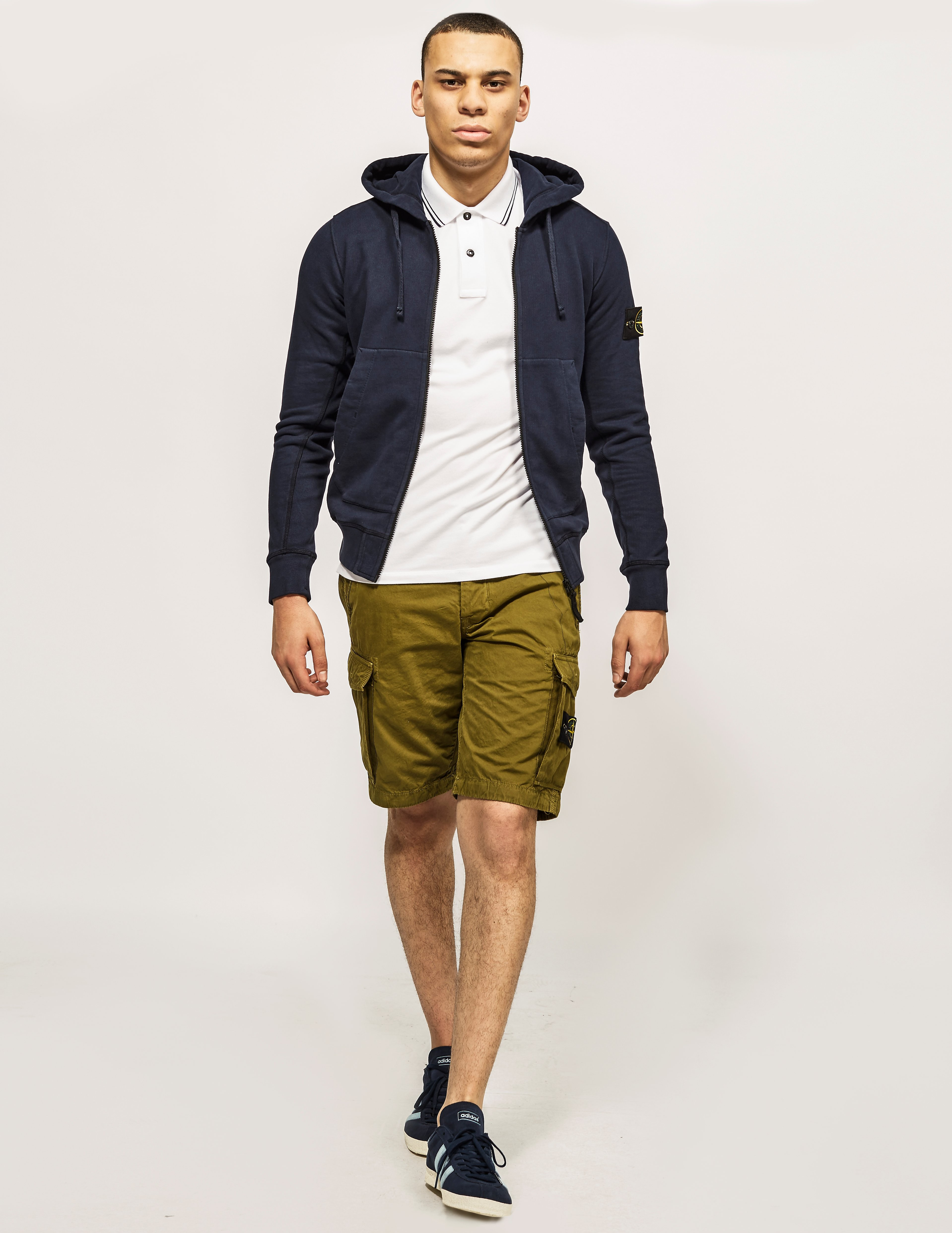 Stone Island Zip Through Dyed Sweatshirt