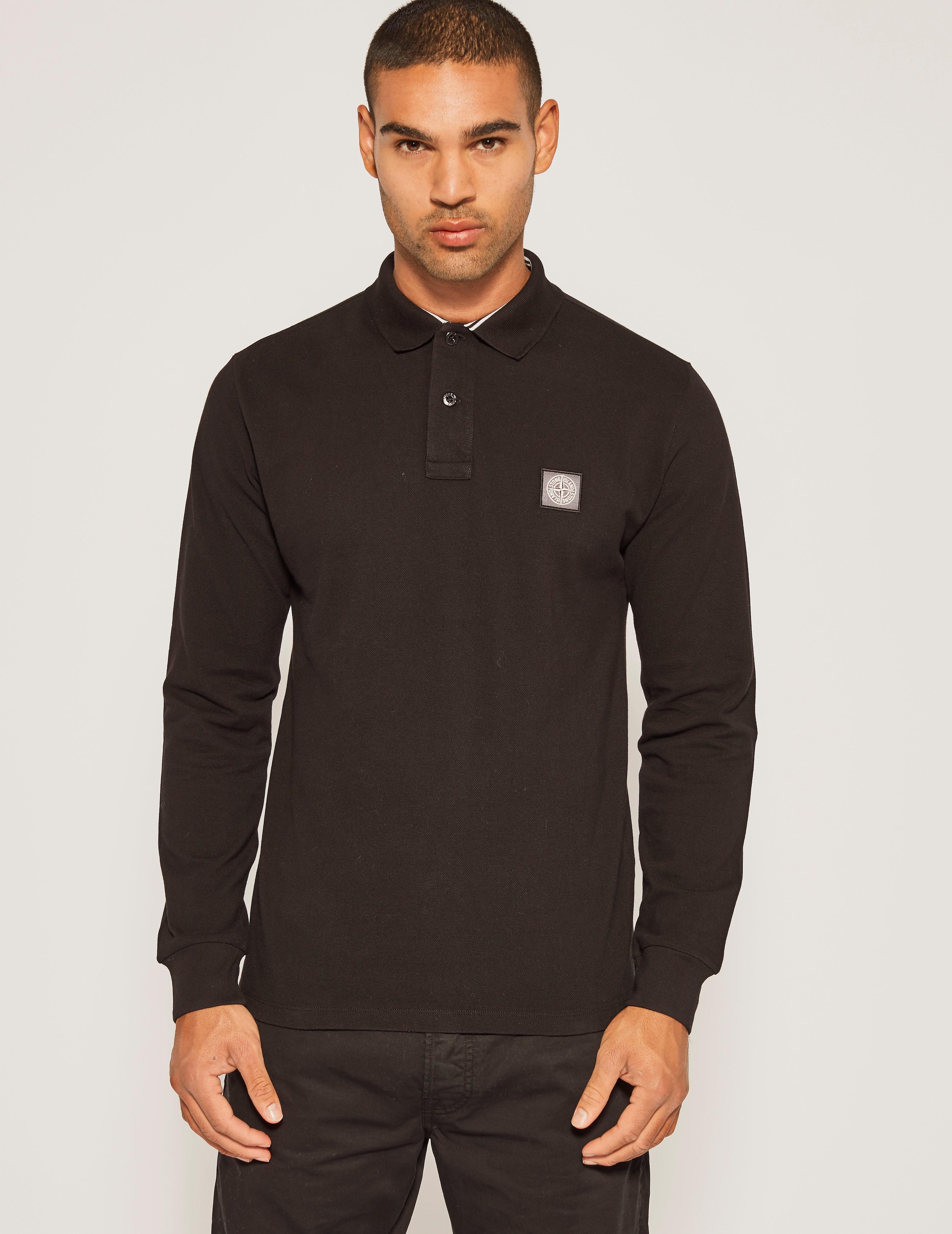 Stone Island Regular Long Sleeved Polo Shirt