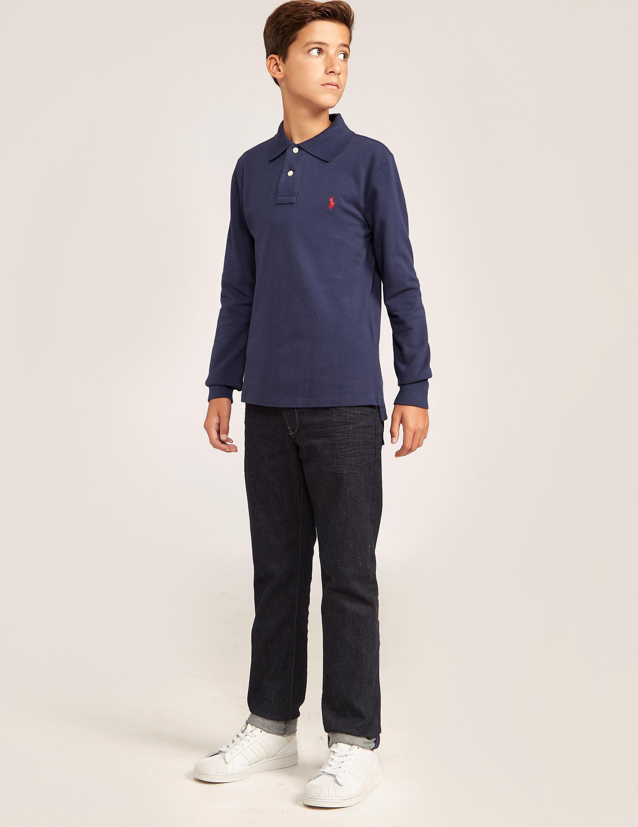 Polo Ralph Lauren Kids' Long Sleeve Pique Polo Shirt