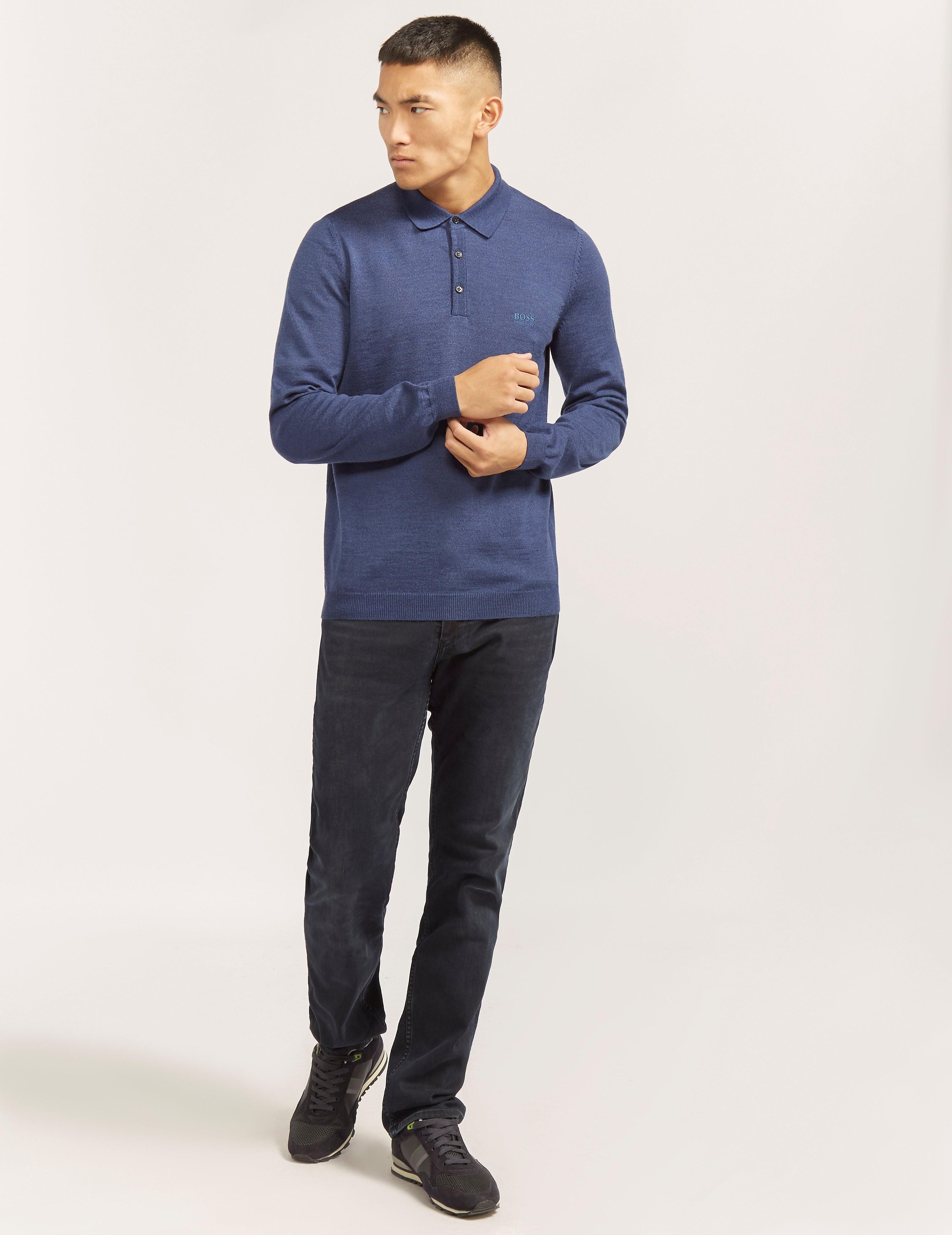 BOSS Green C-CAMUS1 Long Sleeve Polo Shirt