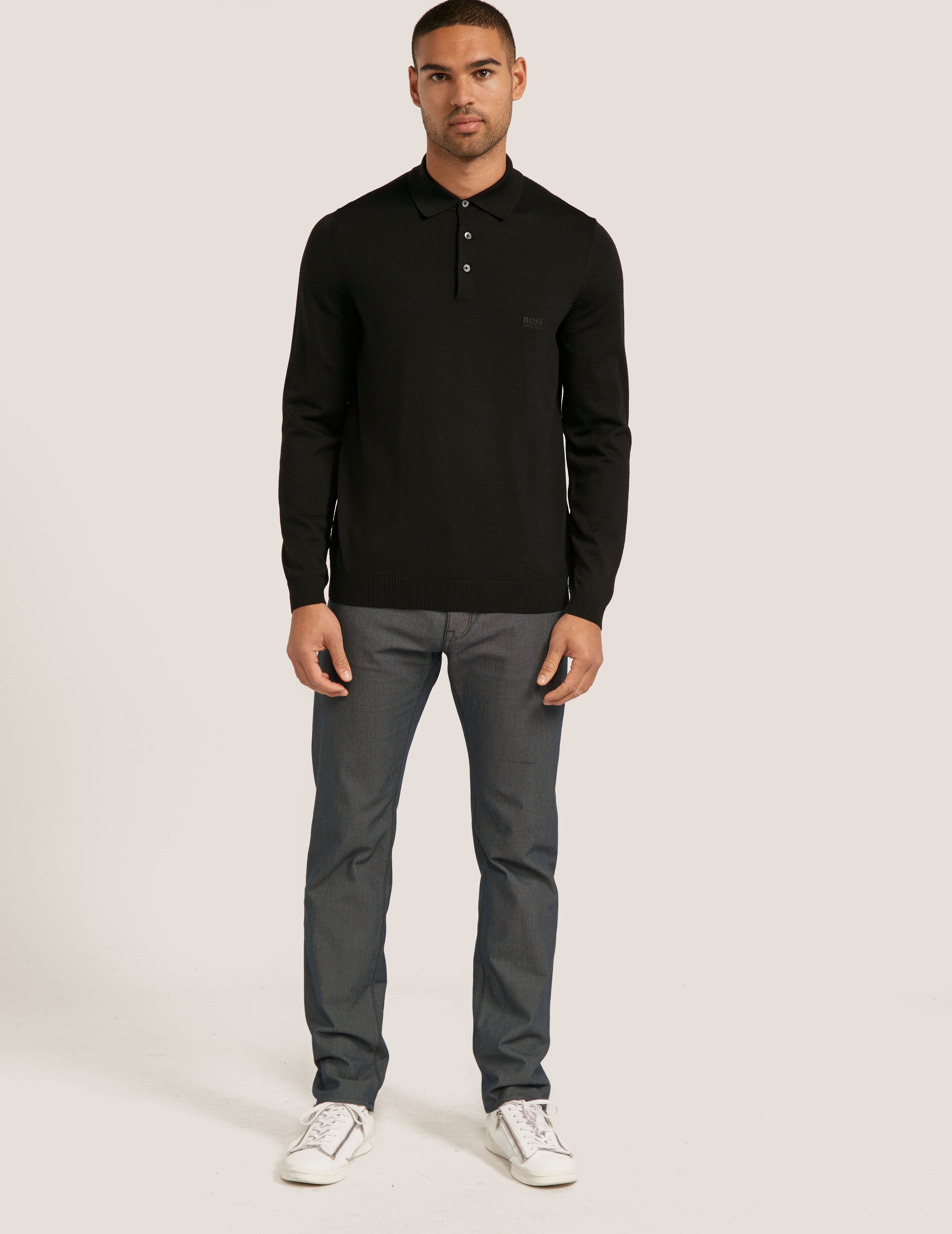 BOSS Banet Long Sleeve Polo Shirt