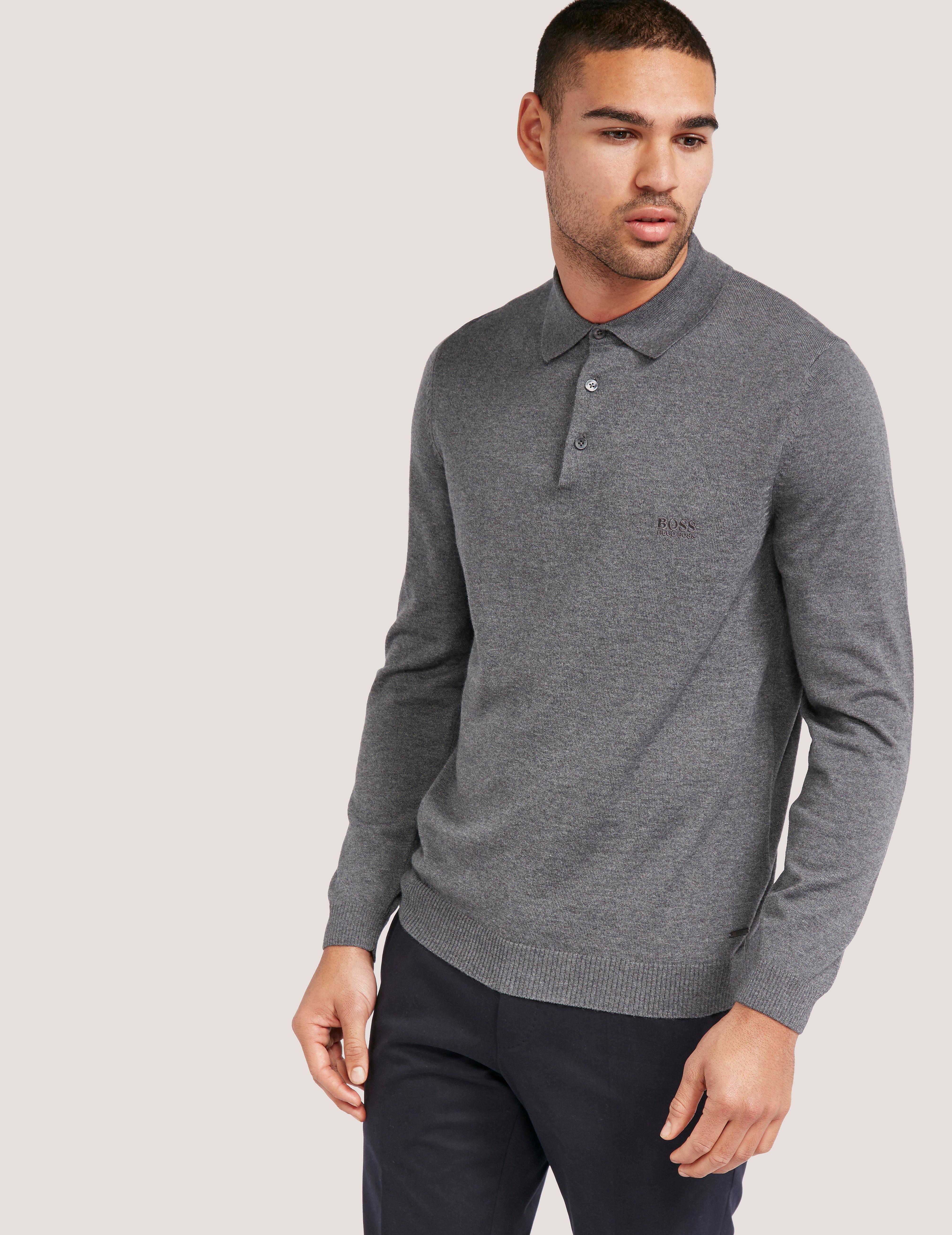BOSS Banet Long Sleeve Polo Shirt