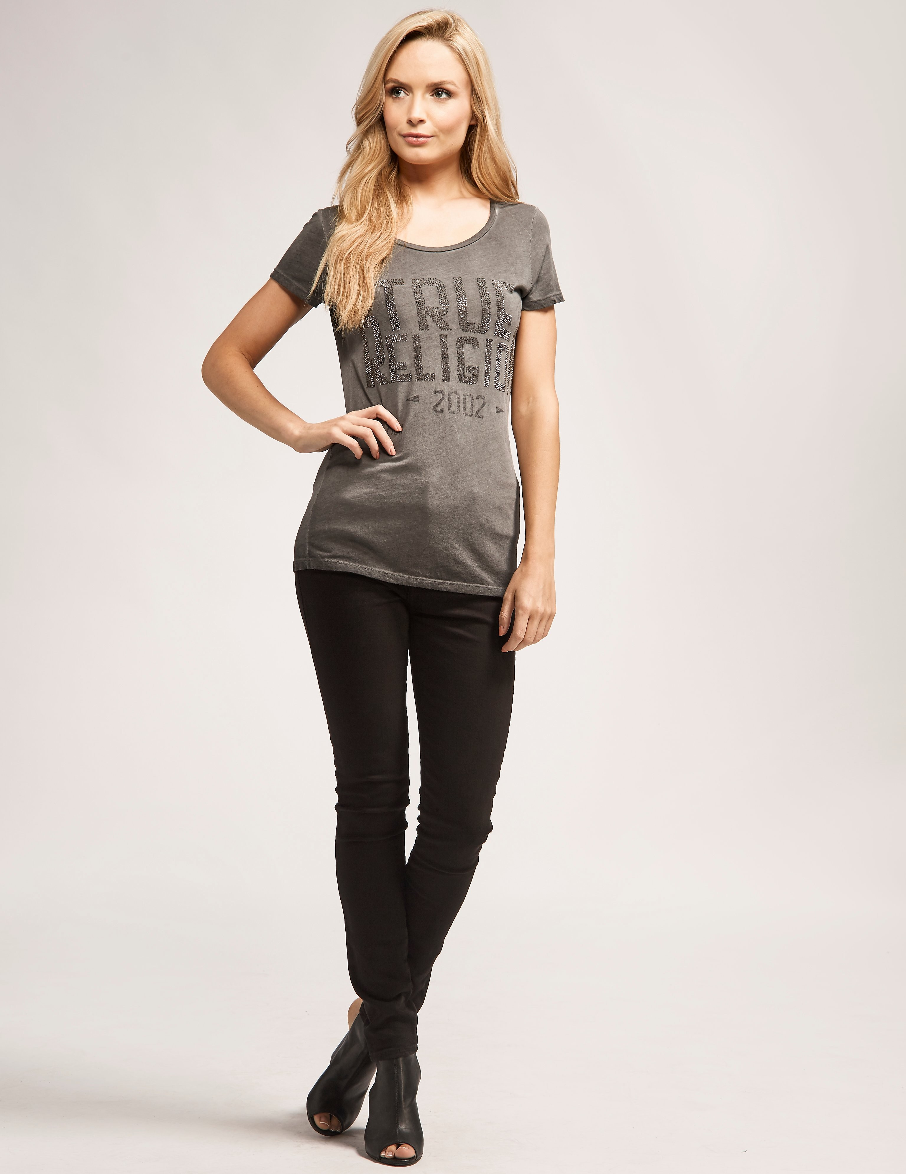 True Religion Crew Bling Logo T-Shirt