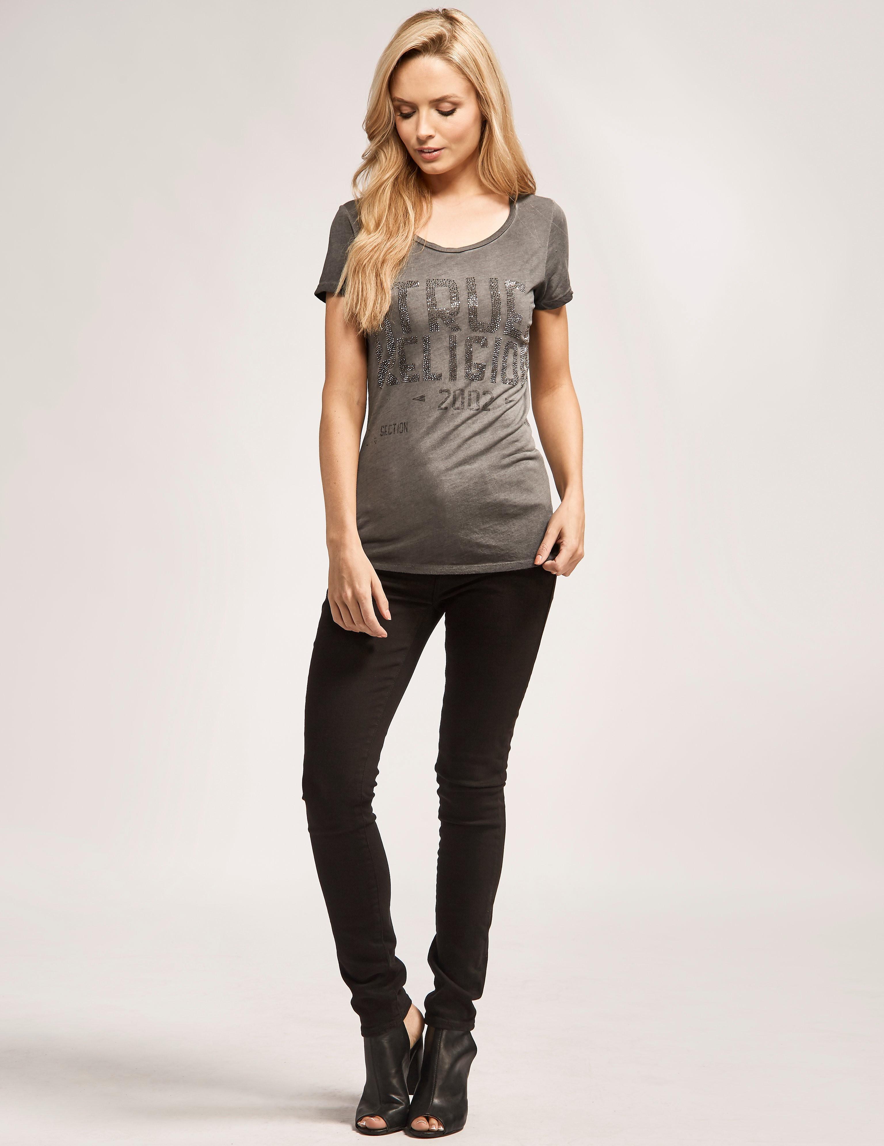 True Religion Halle Mid Rise Super Skinny Jean