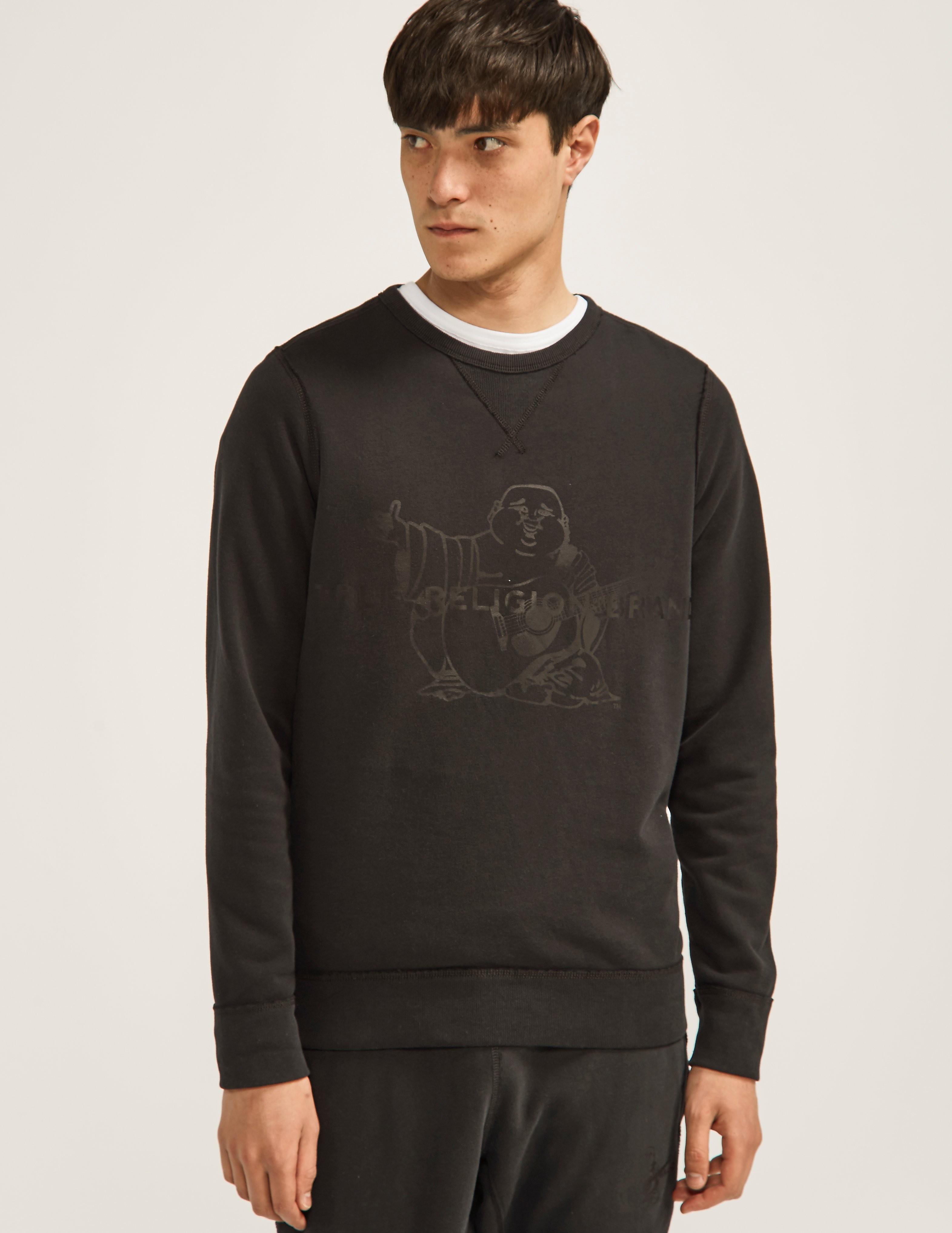 True Religion Tonal Buddah Sweatshirt