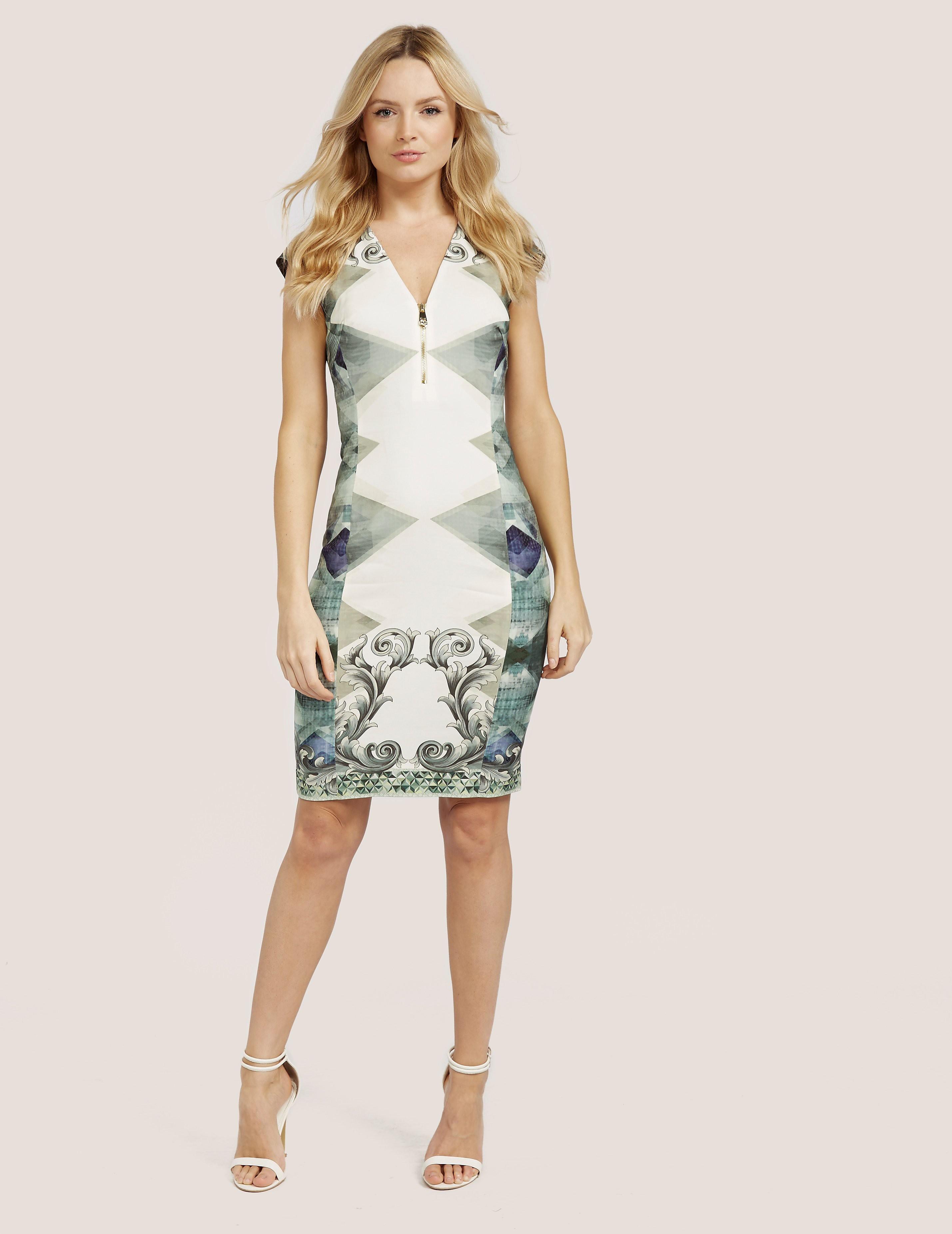 Versace Collection Print V-Neck Dress