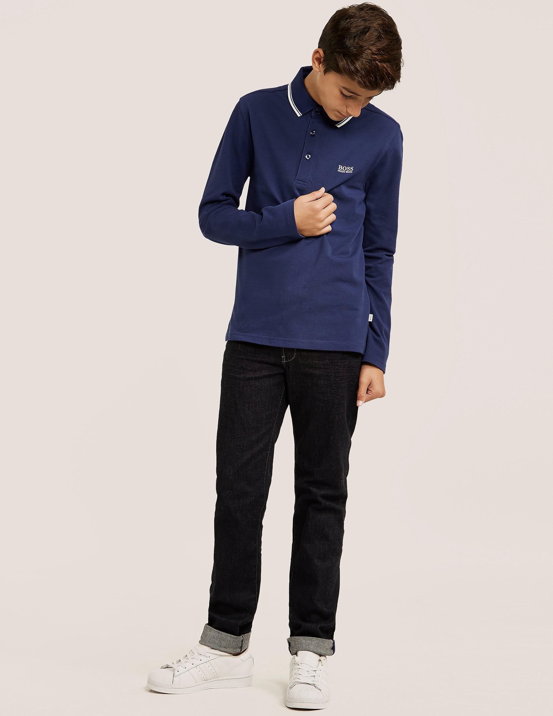 BOSS Tipped Long Sleeve Polo Shirt