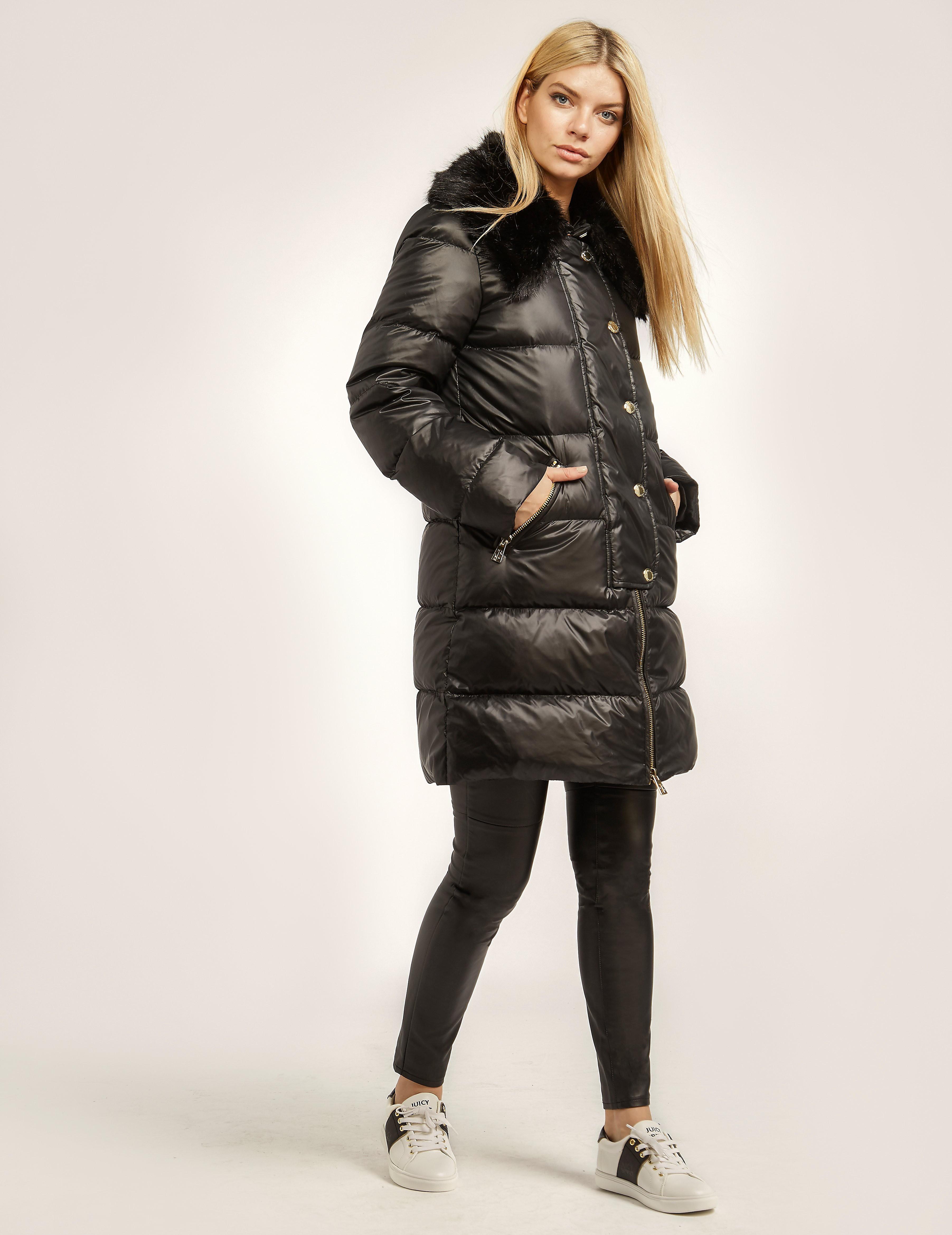 Juicy Couture Long Bubble Faux Jacket