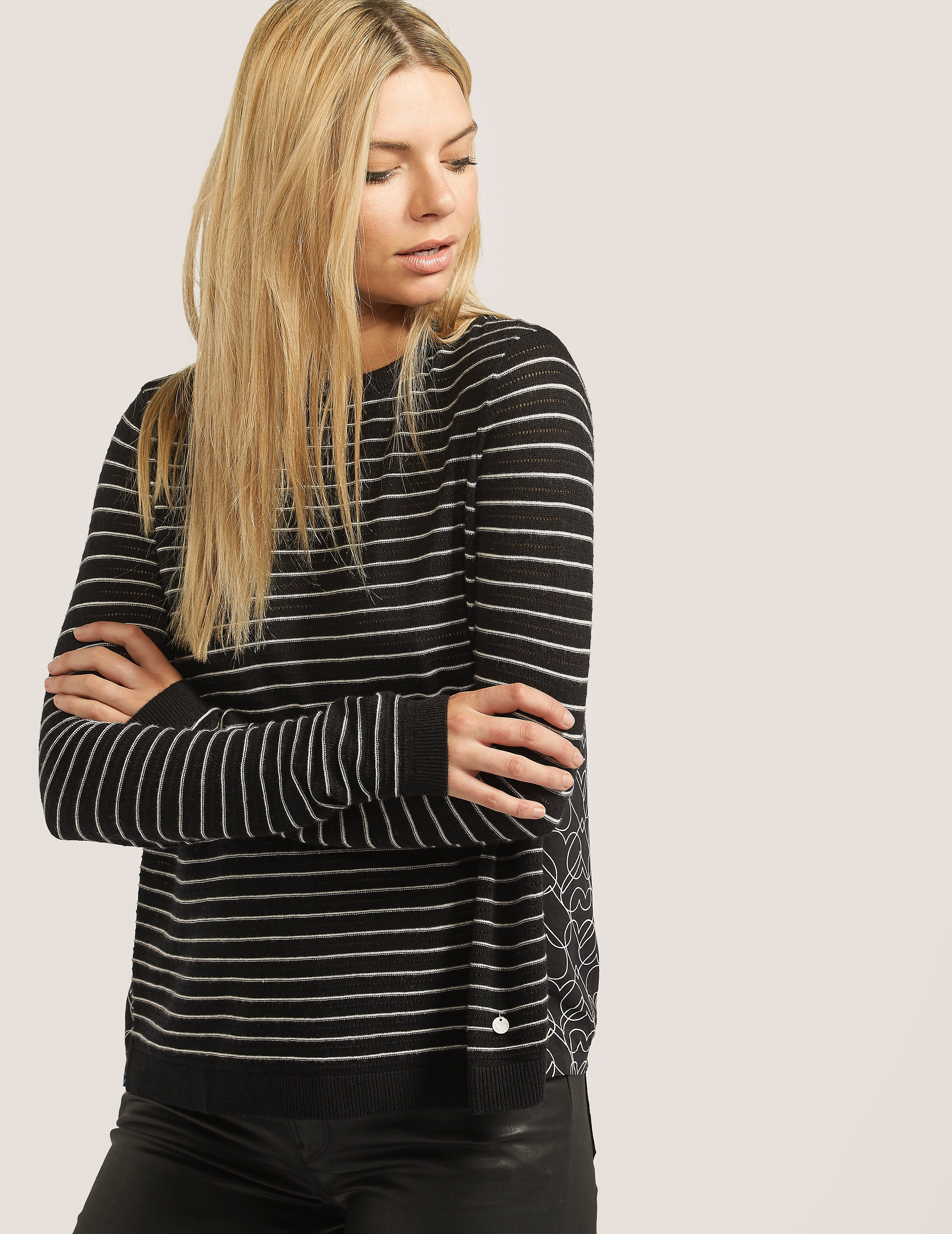 Armani Jeans Stripe Knit Heart