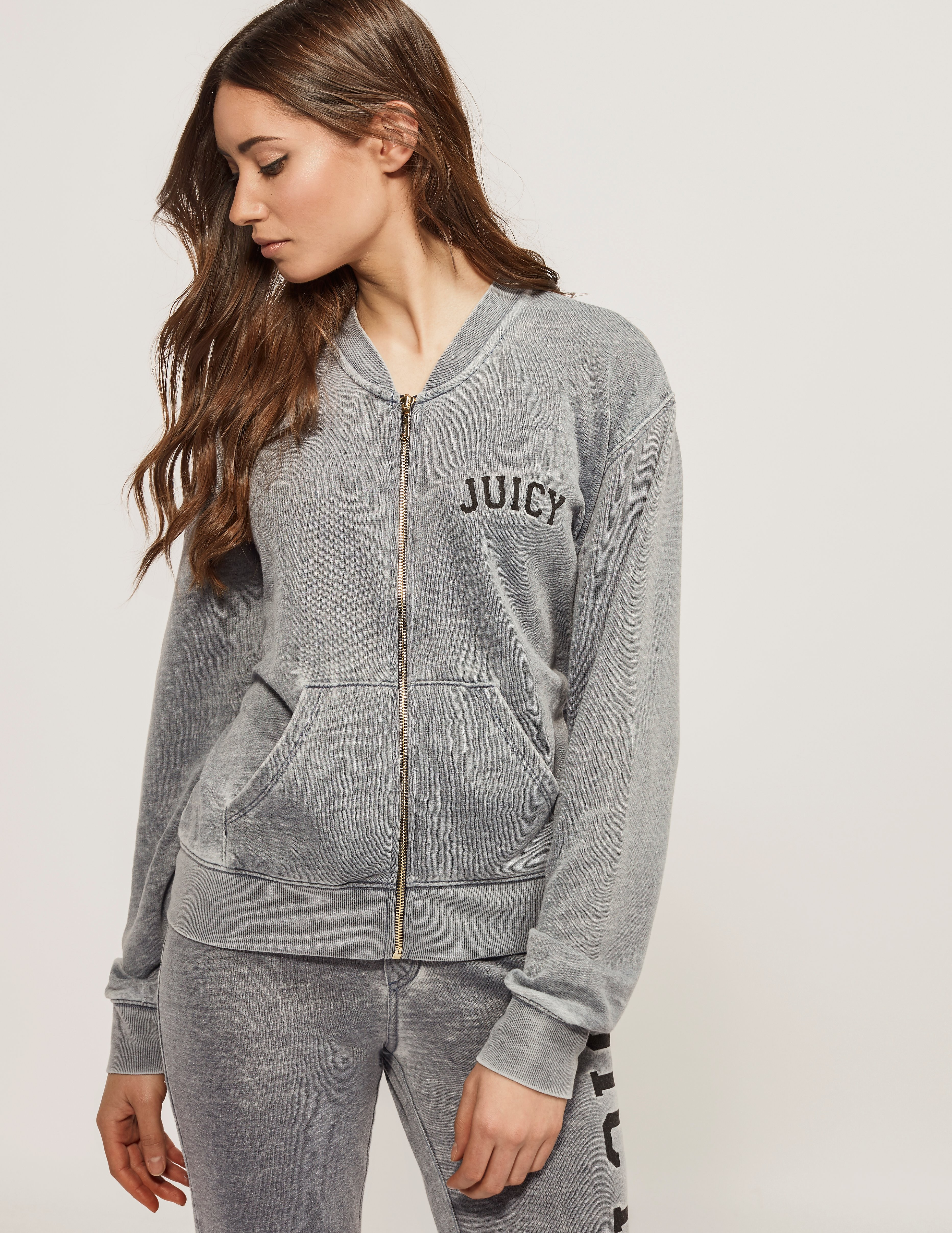 Juicy Couture Del Mar Burnout Zip Top