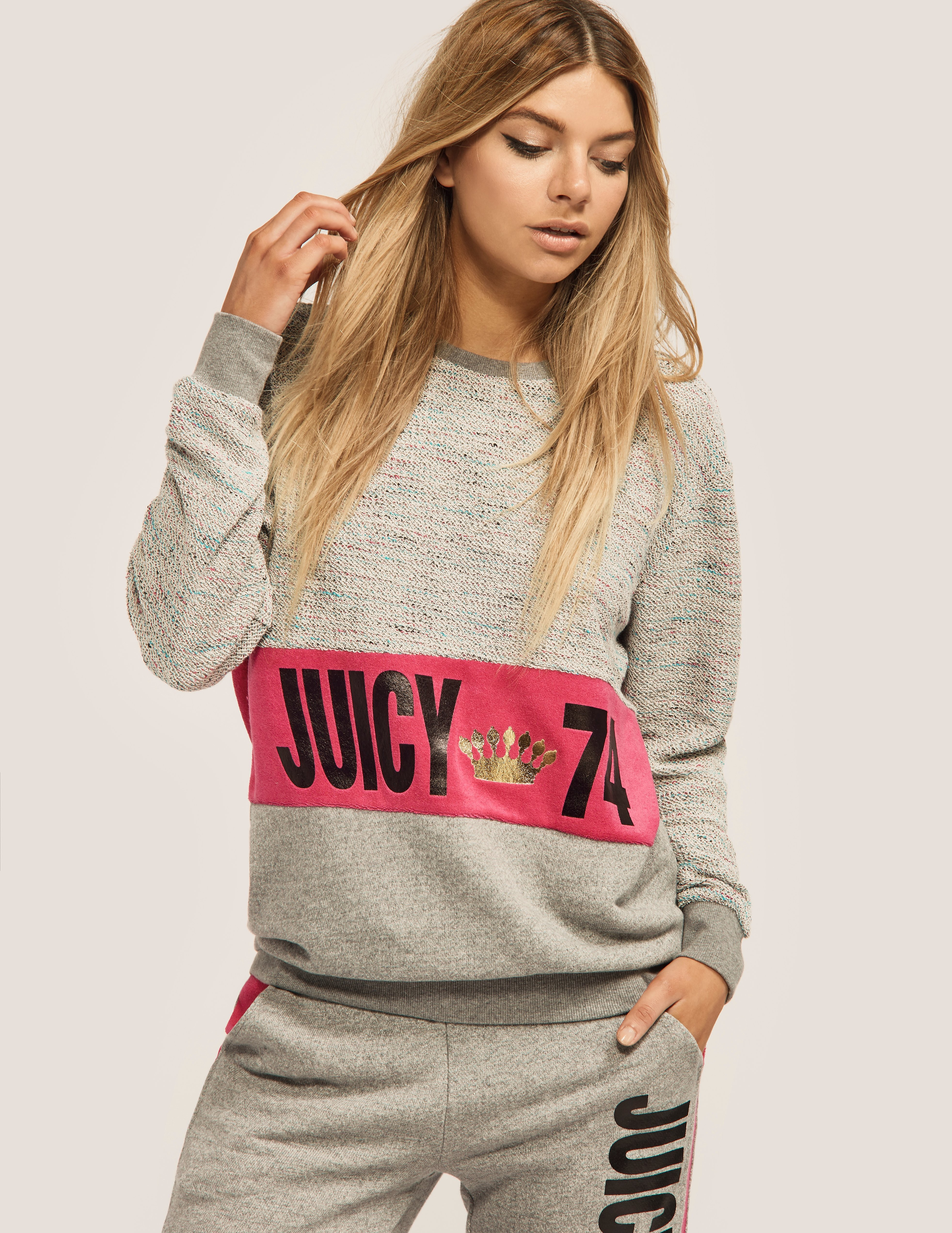 Juicy Couture French Terry Juicy 74 Sweatshirt
