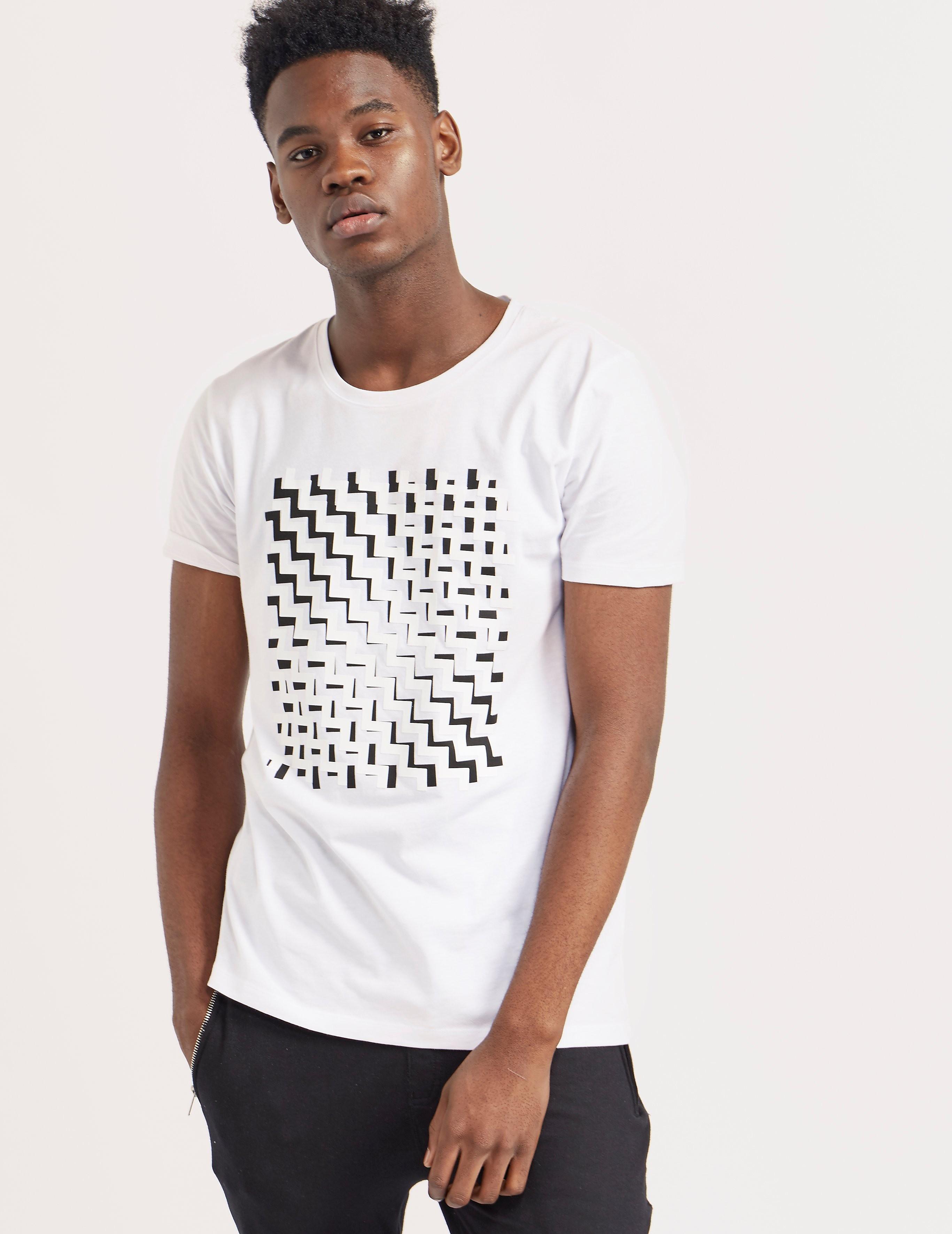 HUGO Geo Print Short Sleeve T-Shirt