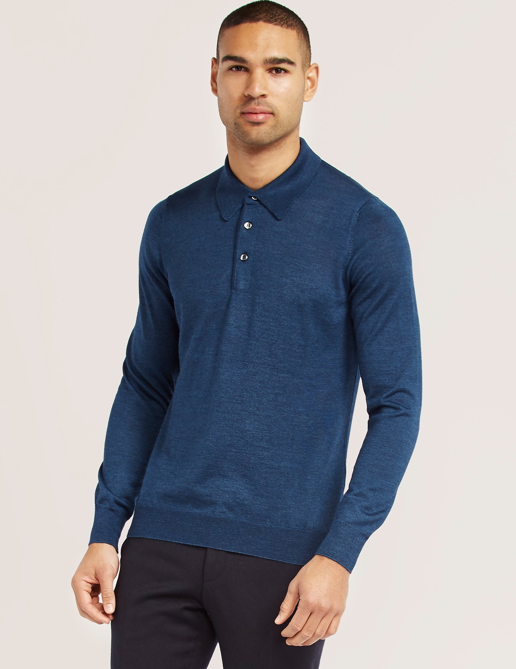 Gran Sasso Gran Silk Long Sleeve Polo Shirt