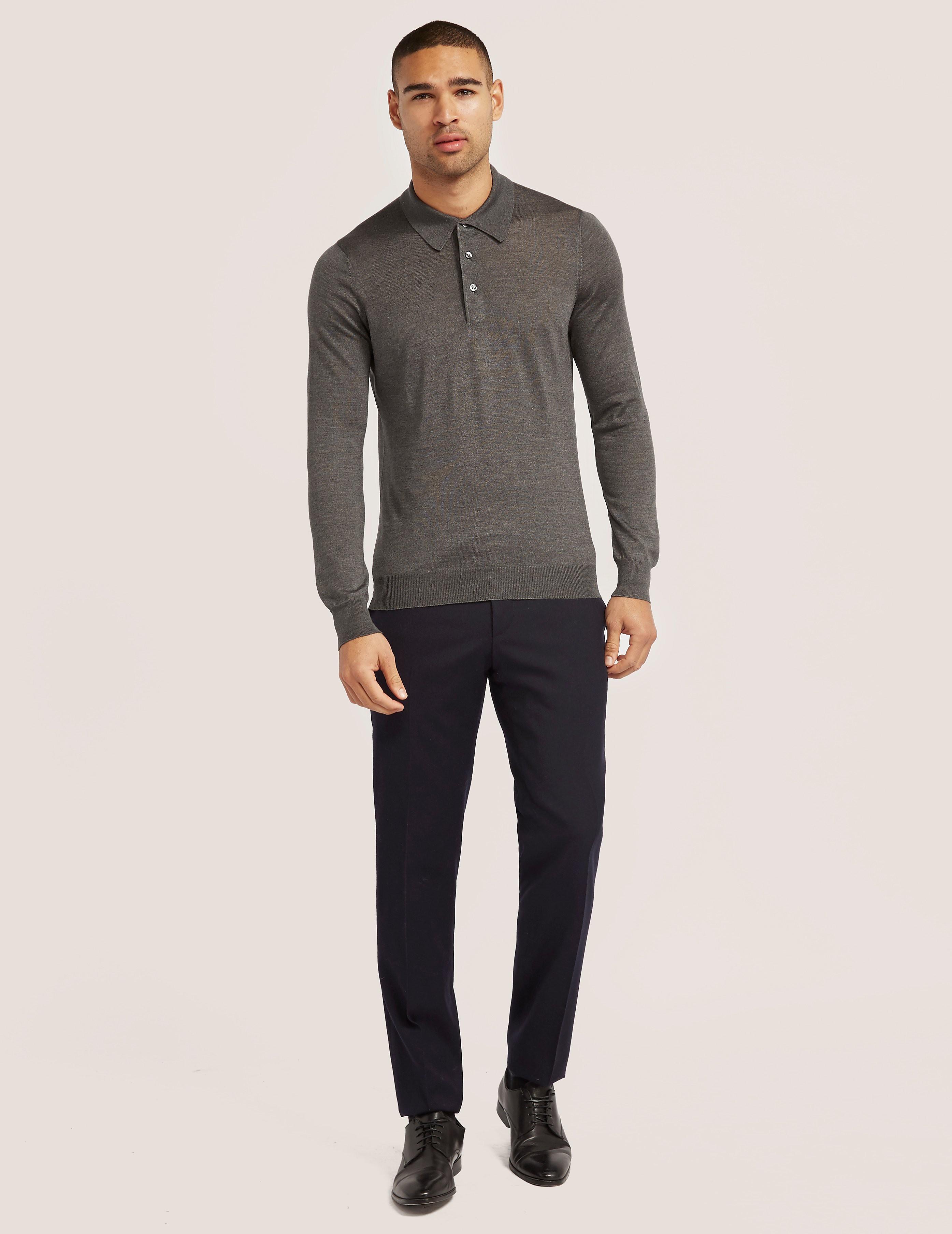 Gran Sasso Gran Silk Long Sleeve Polo Shirt