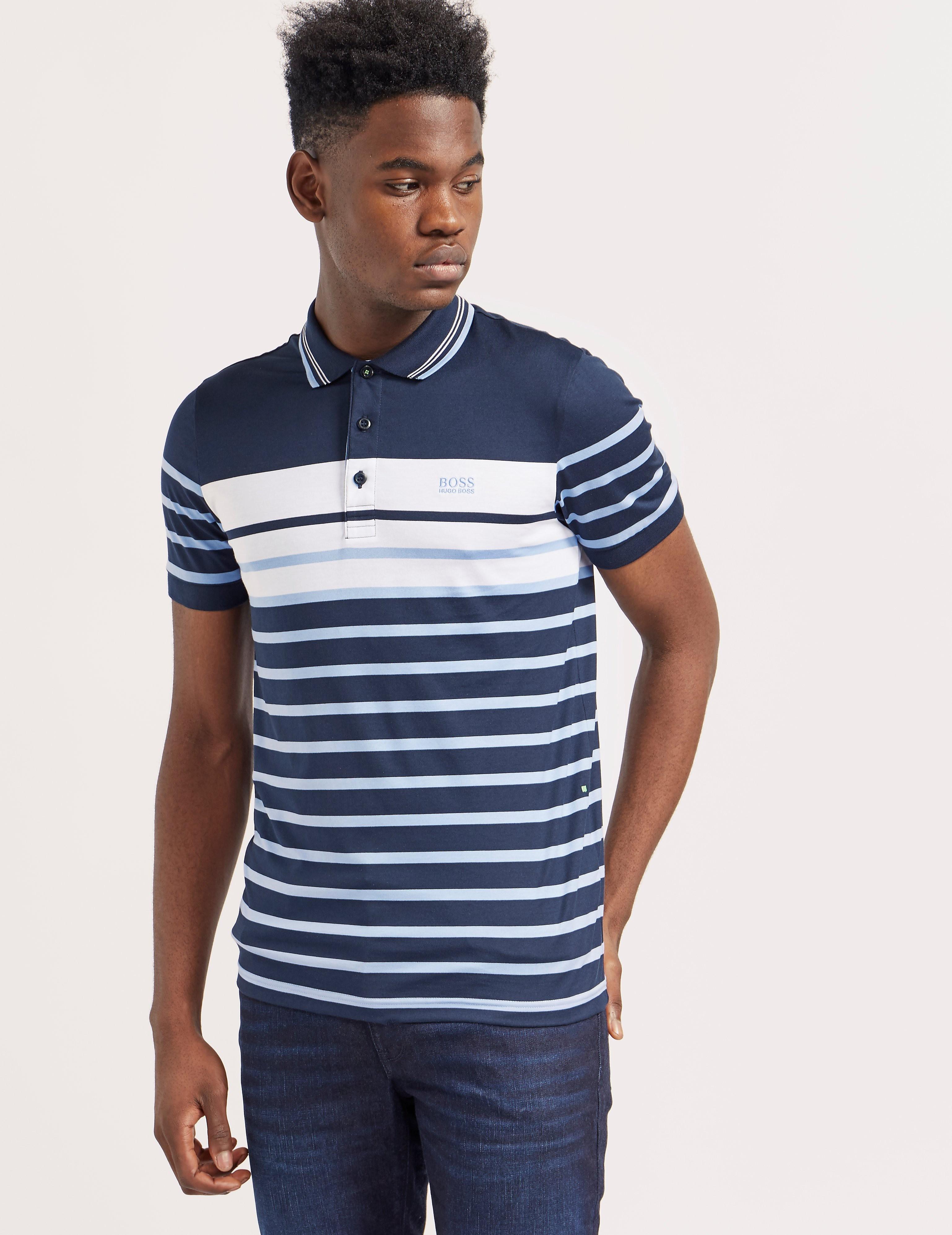 BOSS Green Paul Stripe Short Sleeve Polo Shirt