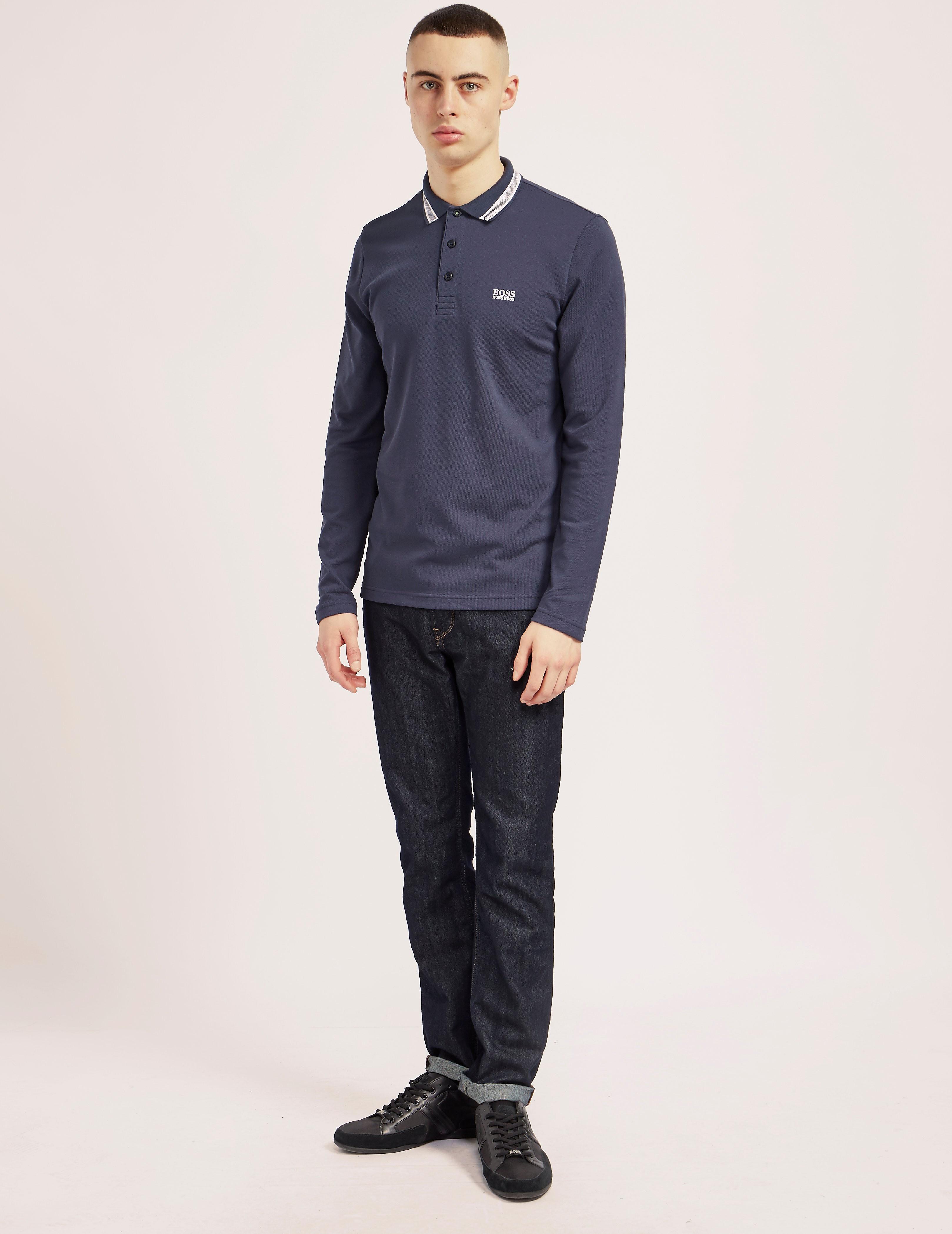 BOSS Green Plisy Long Sleeve Polo Shirt
