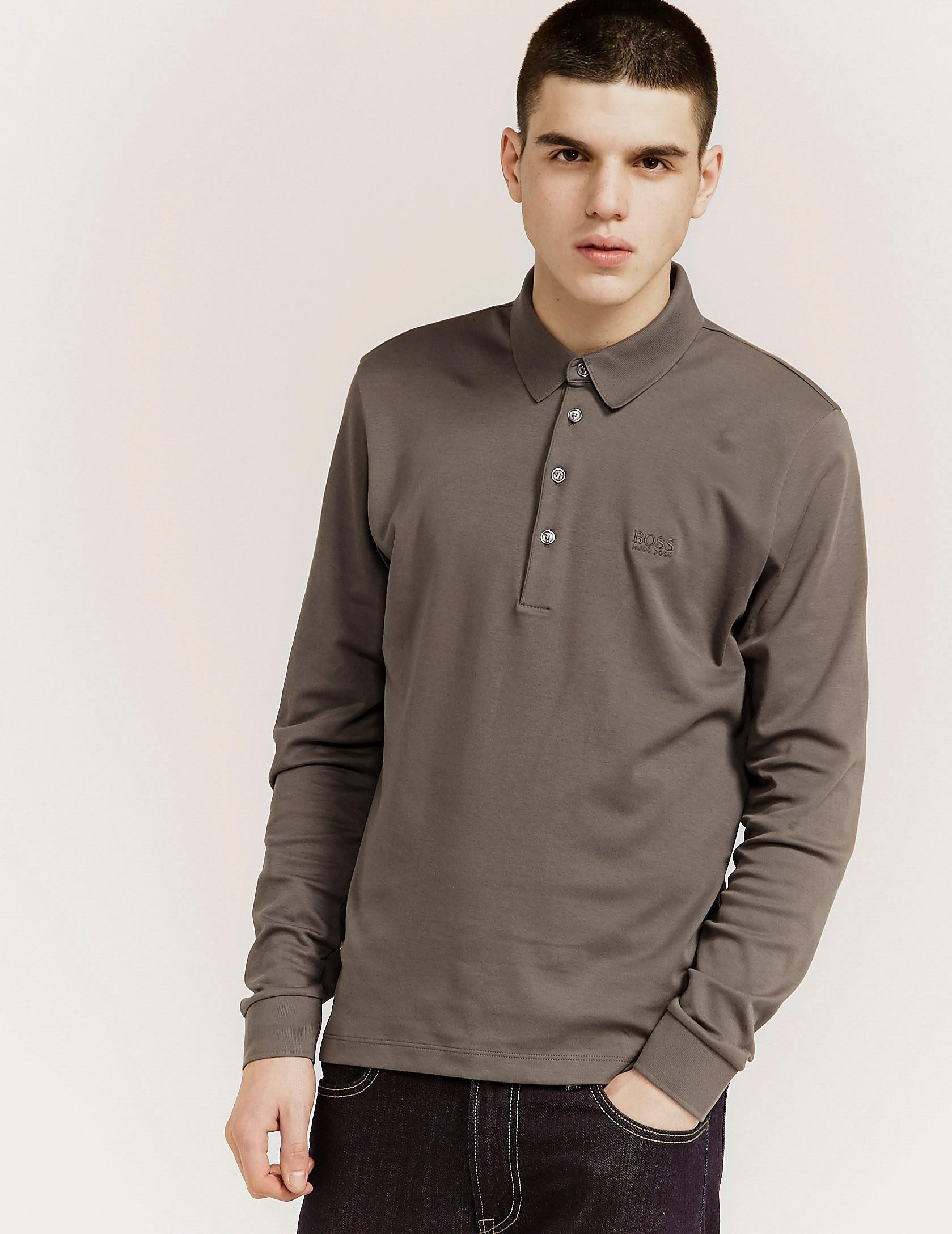 BOSS Green C-Paderna Long Sleeve Polo Shirt