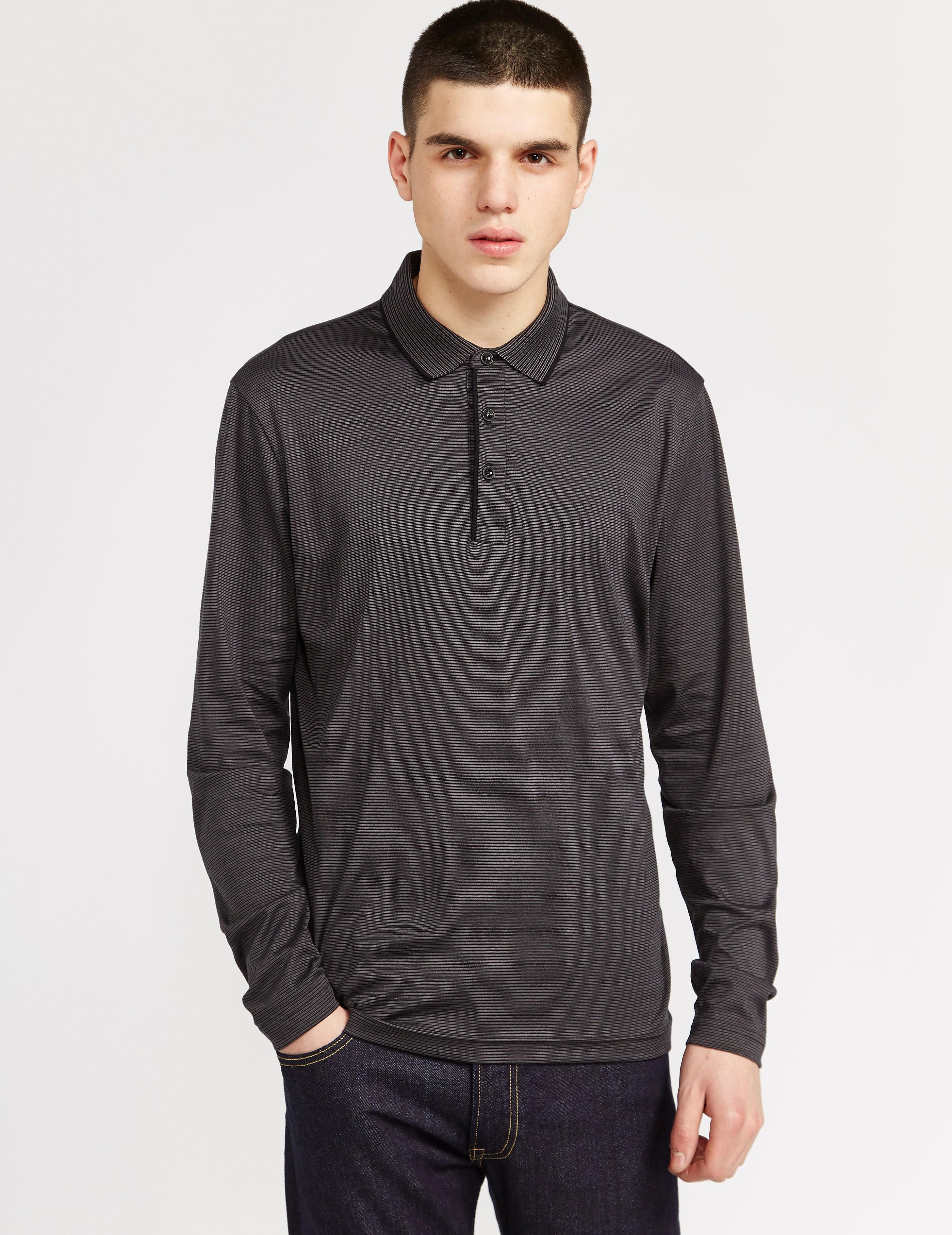BOSS Green C-Prato Long Sleeve Polo Shirt