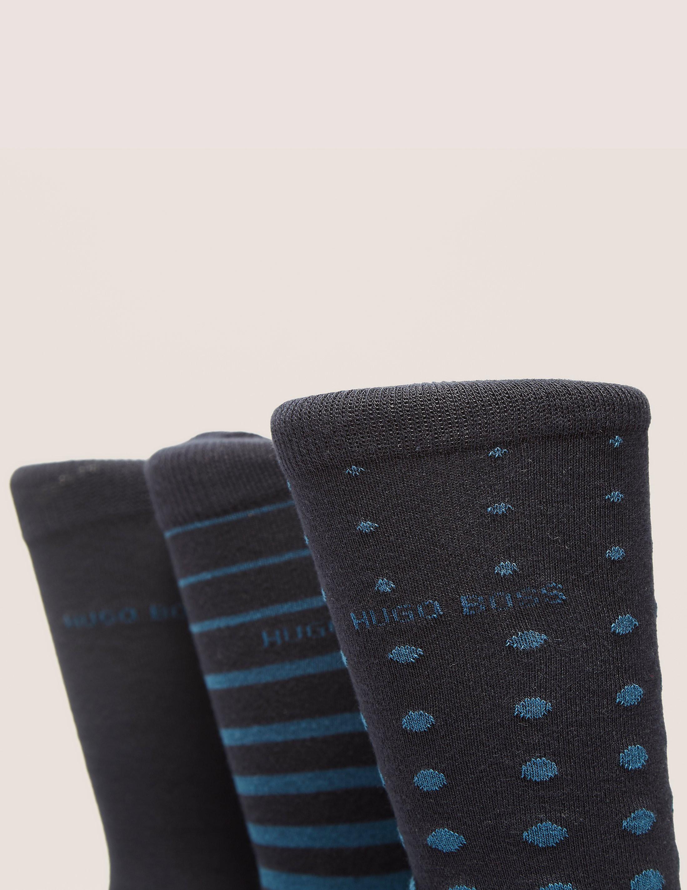 BOSS 3 Pack Stripe Sock