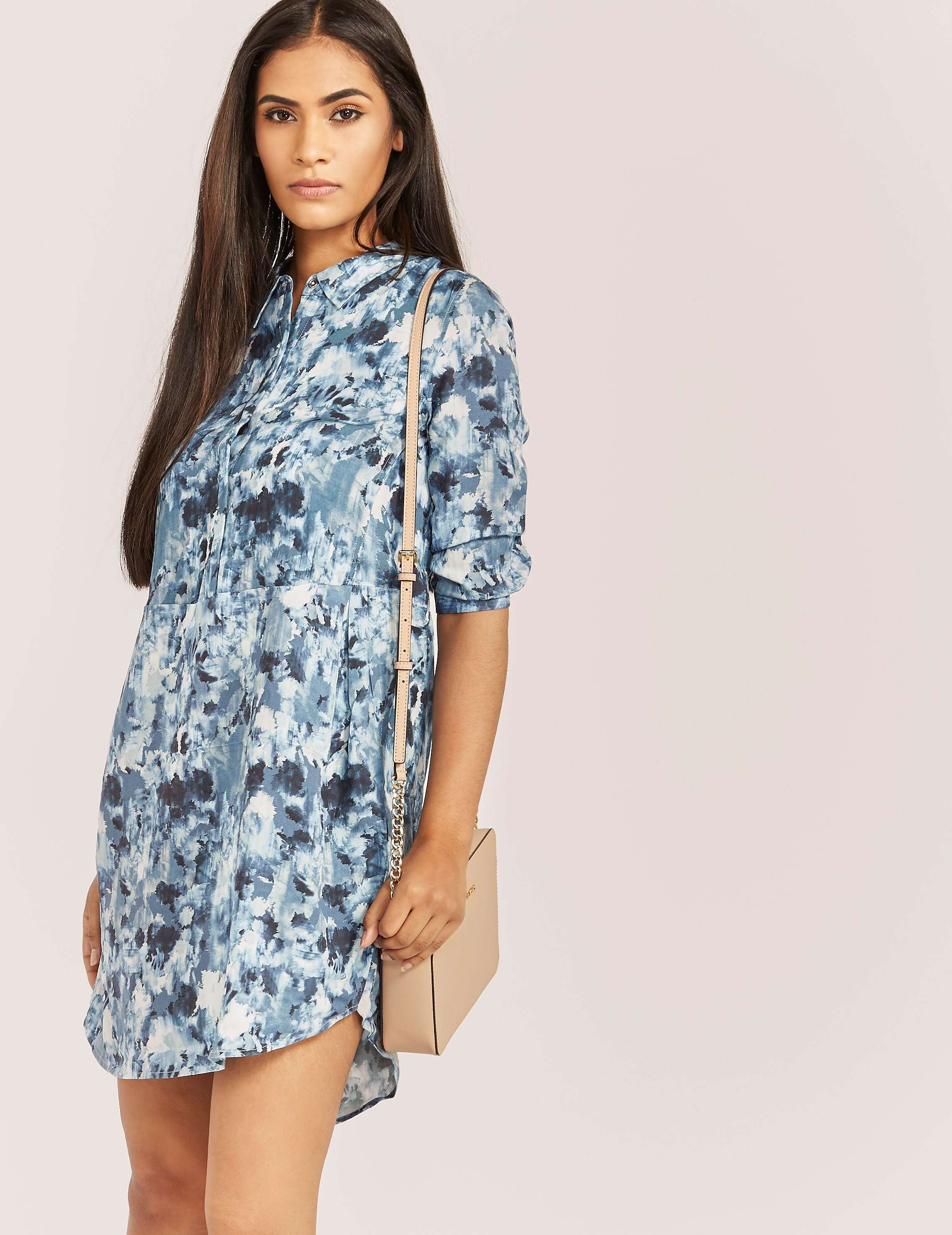 Calvin Klein Floral Shirt Dress