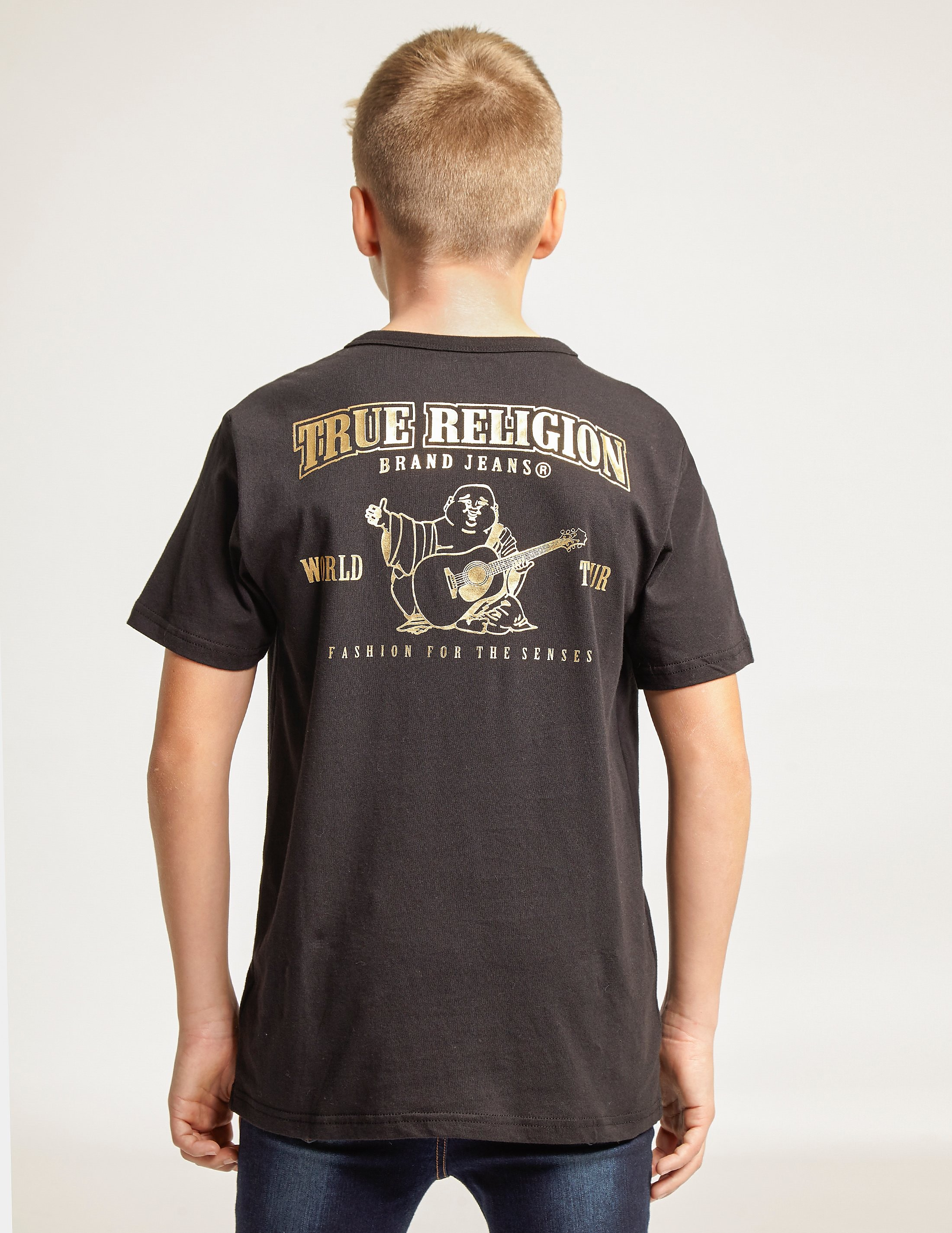True Religion Gold Logo Short Sleeve T-Shirt