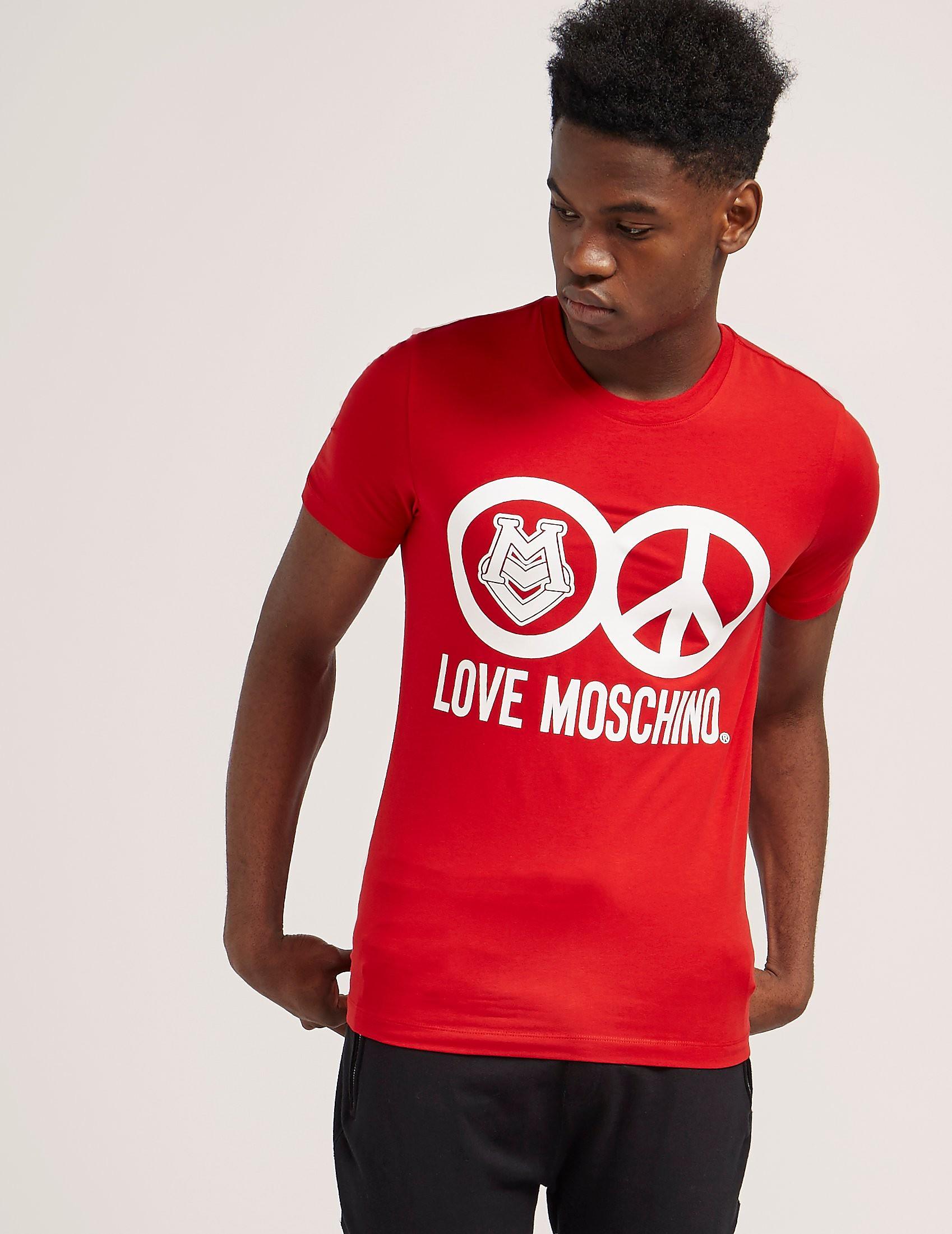 Love Moschino Peace Short Sleeve T-Shirt